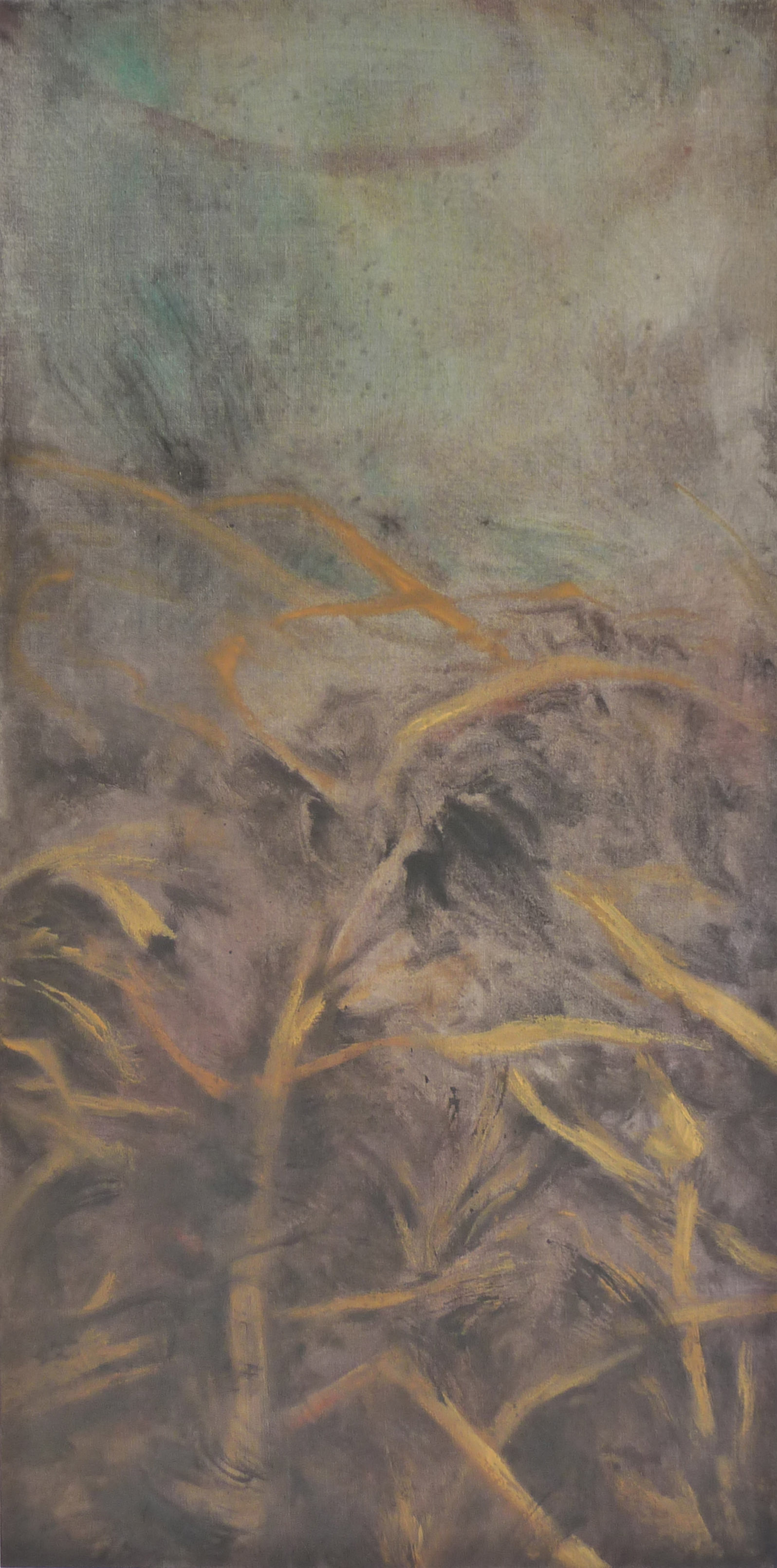 <p><strong>Desso 1275 Euro</strong><br />Punic wax on canvas, 60 x 120 cm</p>