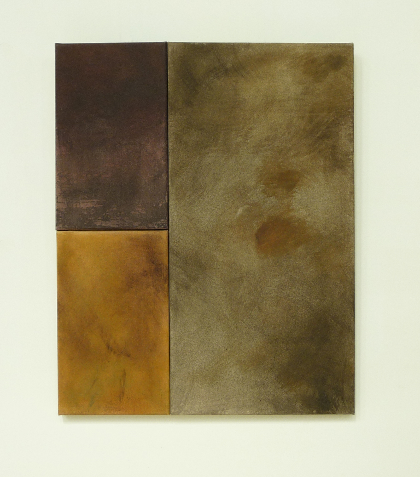 <p><strong>Colours of Scotland 1                 560 Euro</strong><br />Punic wax on canvas, 2x  18x30 cm and 30x60 cm</p>