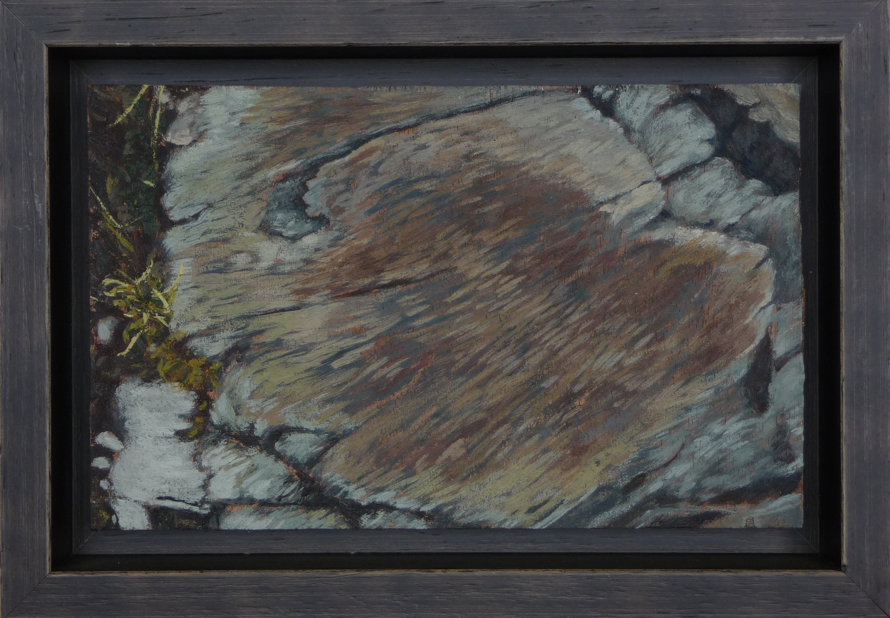 <p><strong>Stone</strong><br />Encaustic on wood, 22,5 x 14 cm<br />[ Frame included - 19 x 27 cm ]<br /><!-- [if gte mso 9]><xml>