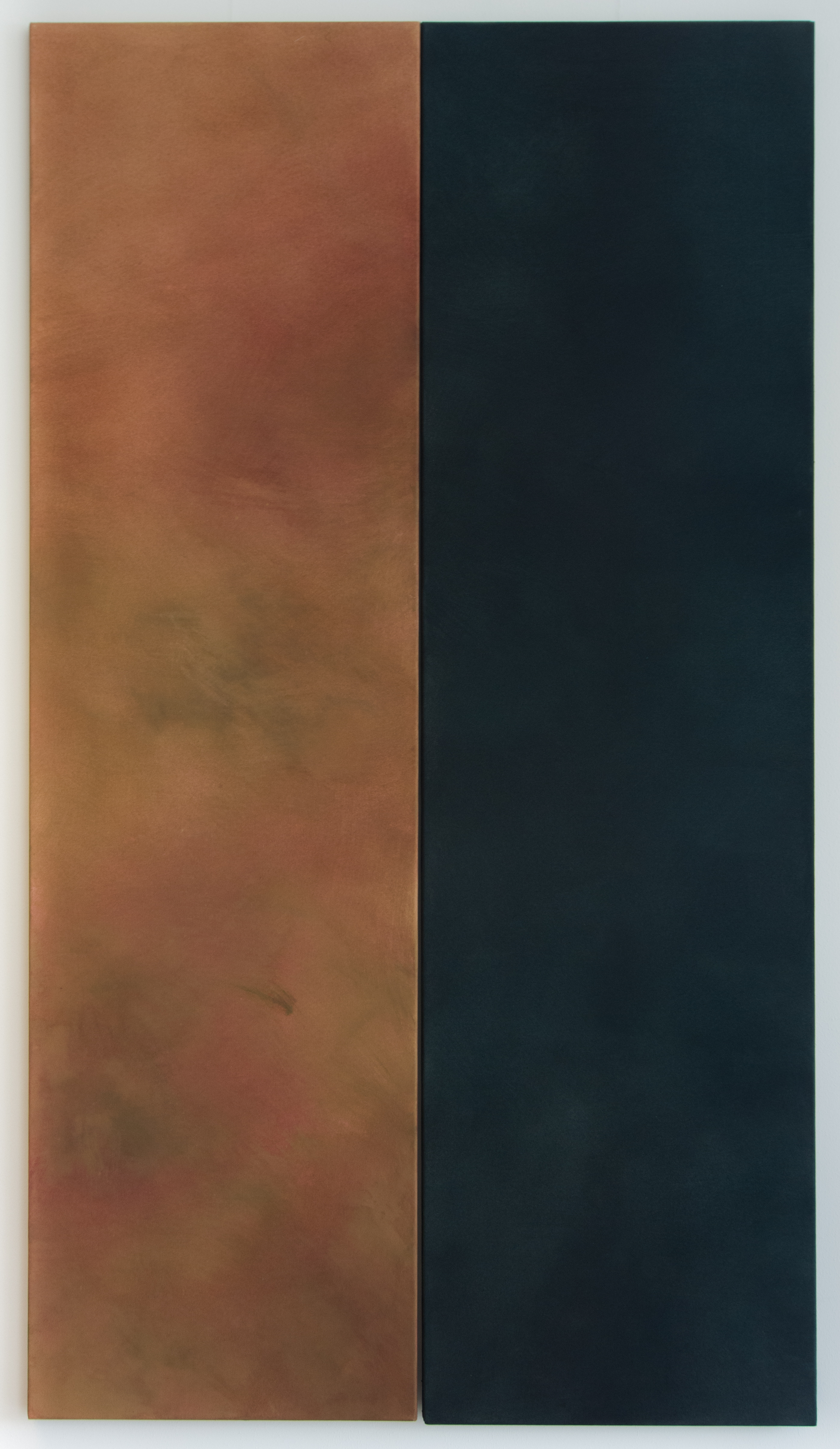 <p><strong>Colours of Scotland 6</strong><br />Punic wax on canvas, 2x    50x180 cm</p>