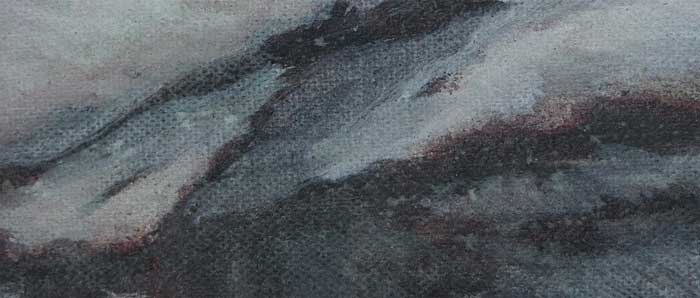 <p><strong>Faded             | 3-6 |</strong><br />SOLD</strong><br />Punic wax on canvas, 8,5 x 3,5 cm </p>