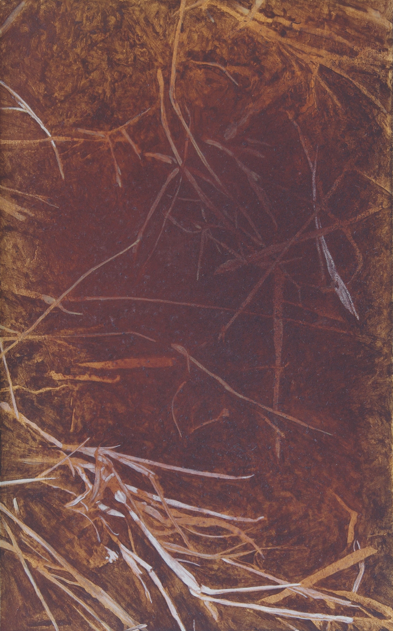 <p><strong>Iron Ground 2 </strong><br />Casein and poppy oil - 25 x 40 cm </p>