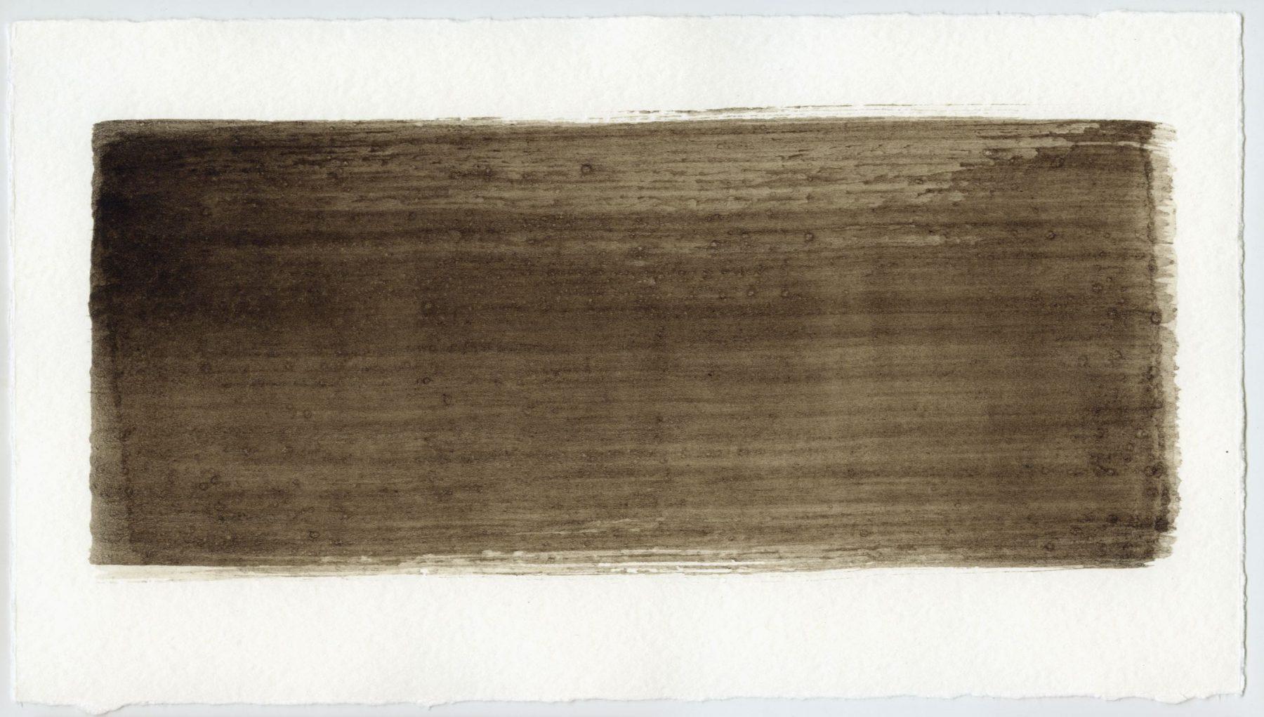 Brush stroke no. 1 - Selfmade pigment: Slingerpad bruin