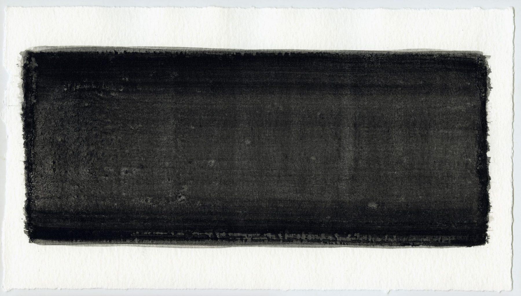 Brush stroke no. 2 - Selfmade pigment: Slingerpad zwart