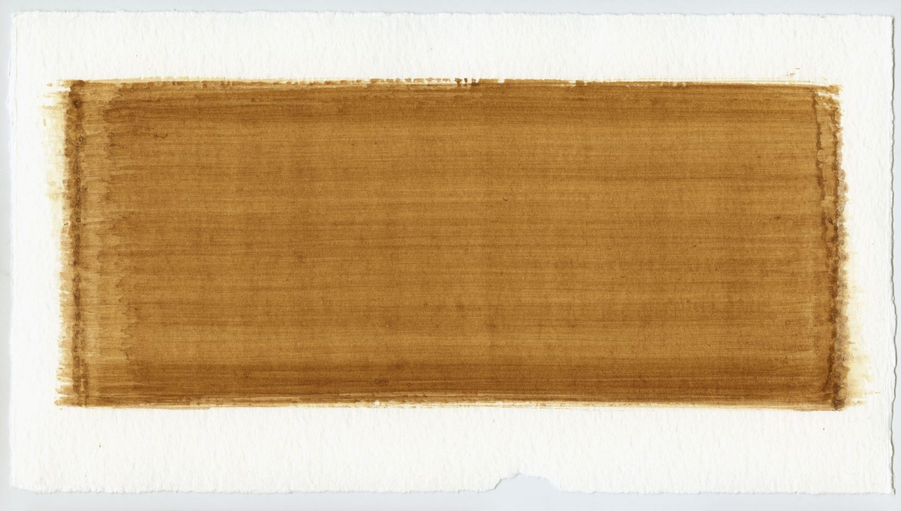 Brush stroke no. 6 - Selfmade pigment: IJzeroer