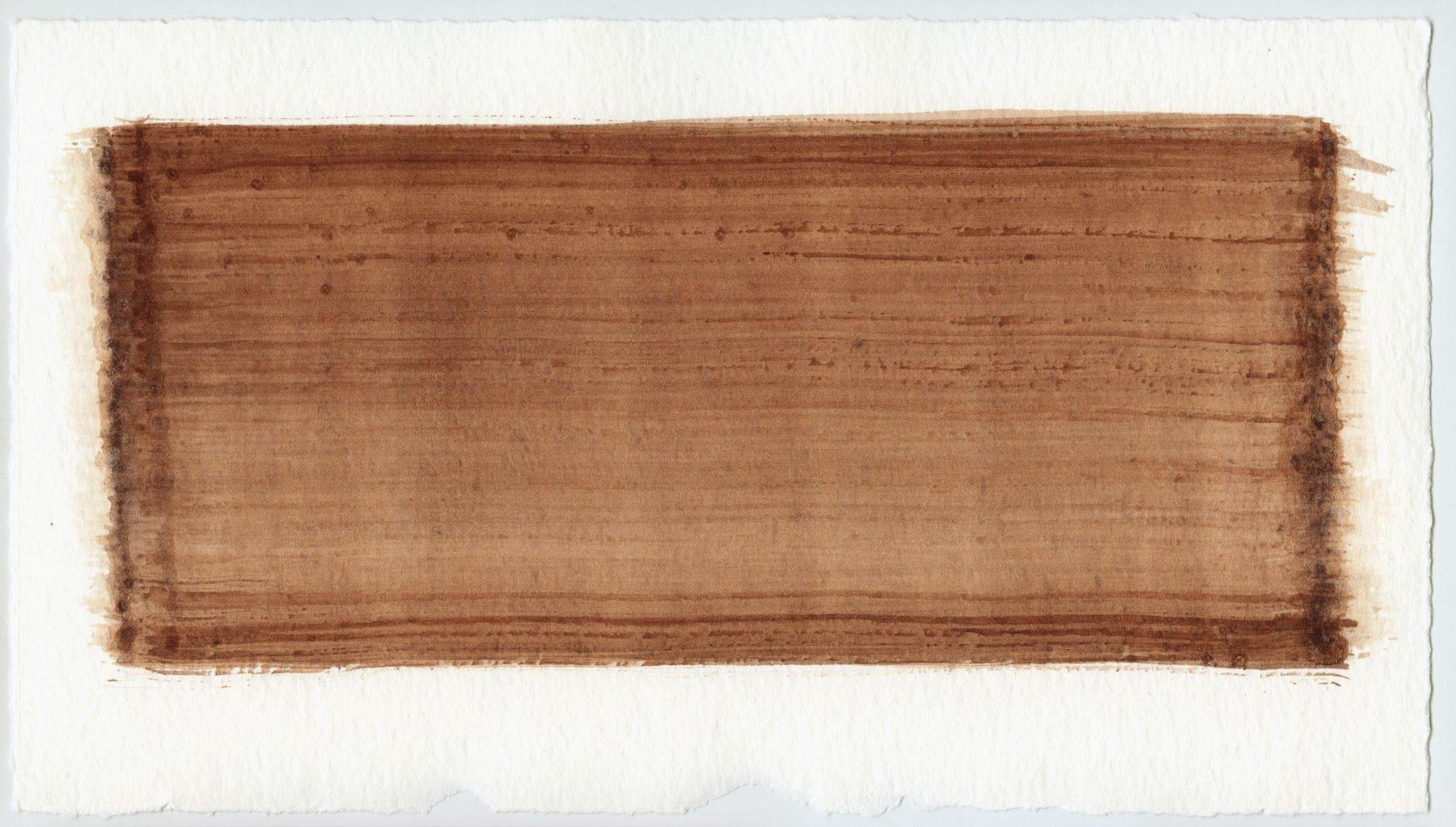 Brush stroke no. 7 - Selfmade pigment: IJzeroer gebrand