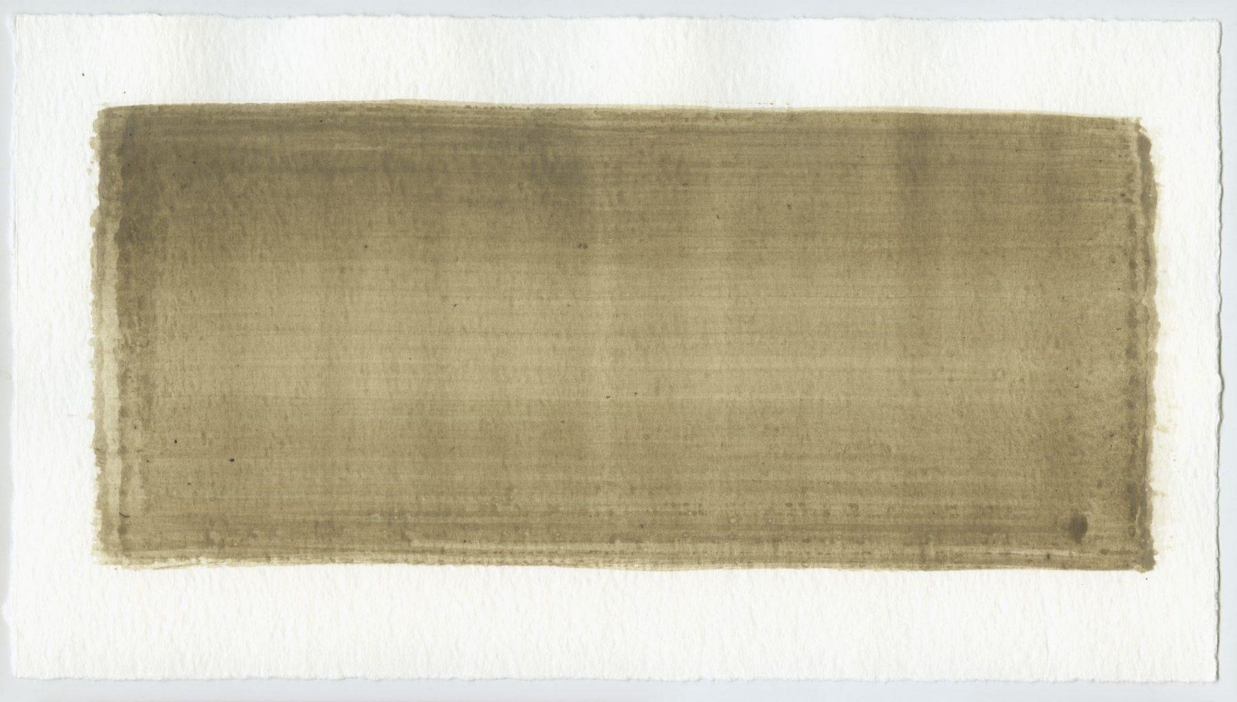 Brush stroke no. 9 - Selfmade pigment: Boekels grijs