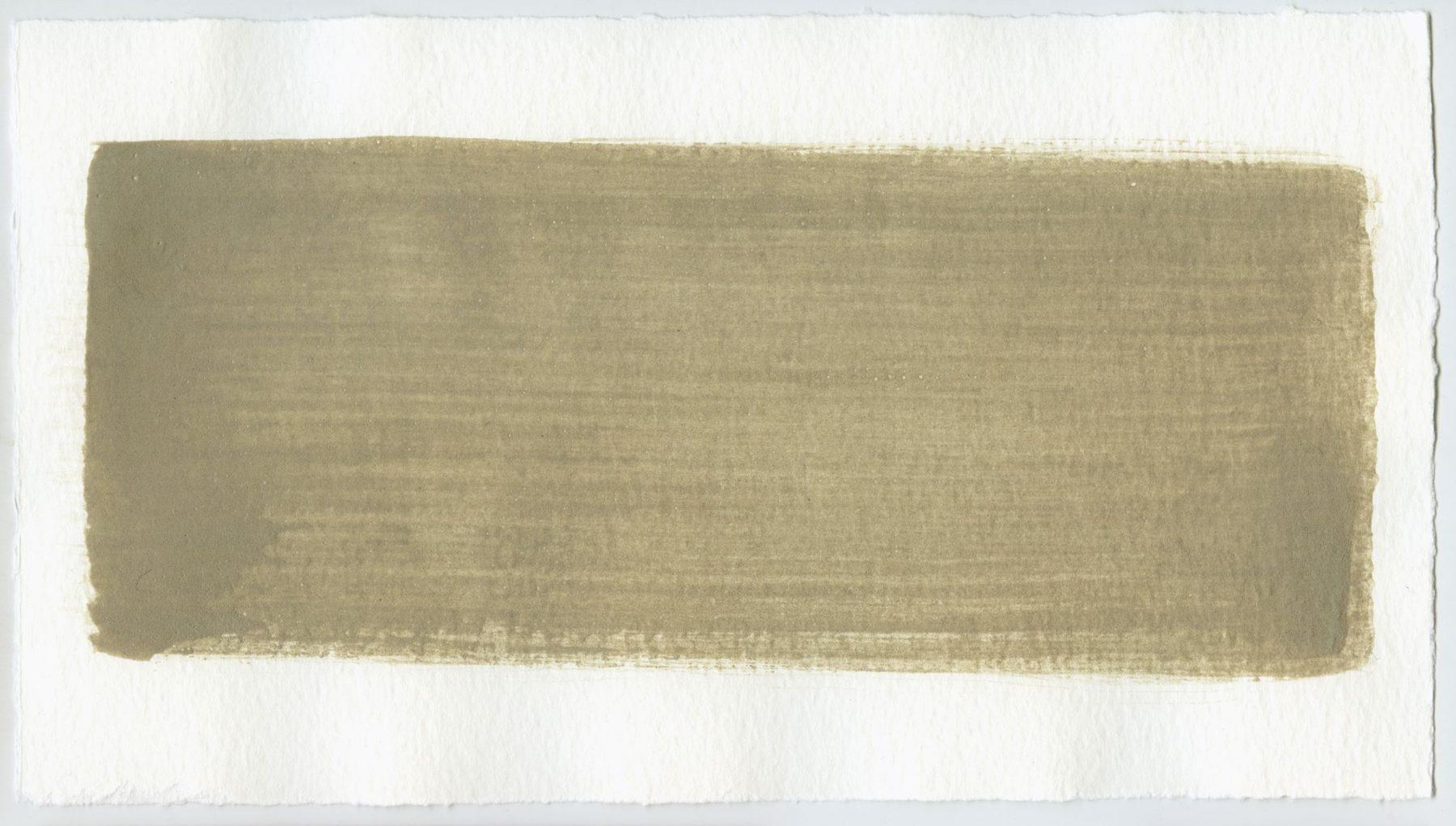 Brush stroke no. 11 - Selfmade pigment: Perekker grijs gebrand