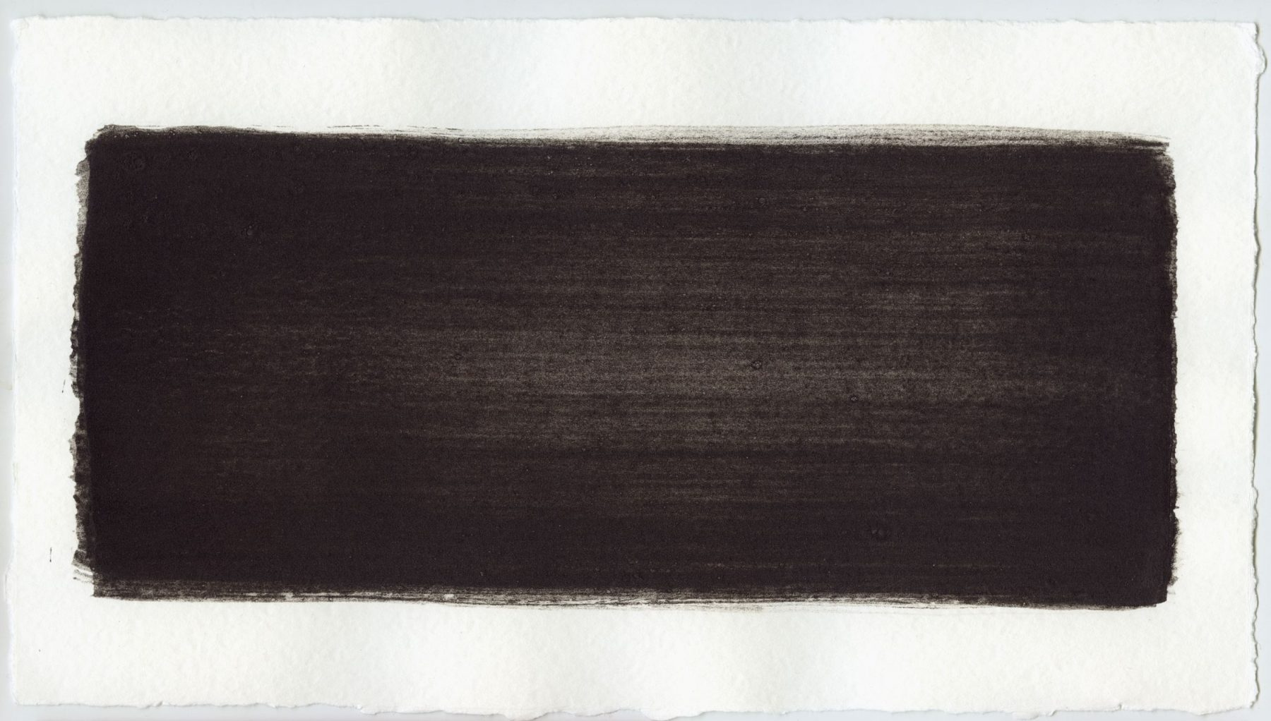 Brush stroke no. 15 - SOLD - Selfmade pigment: Mortel paarsgrijs middel