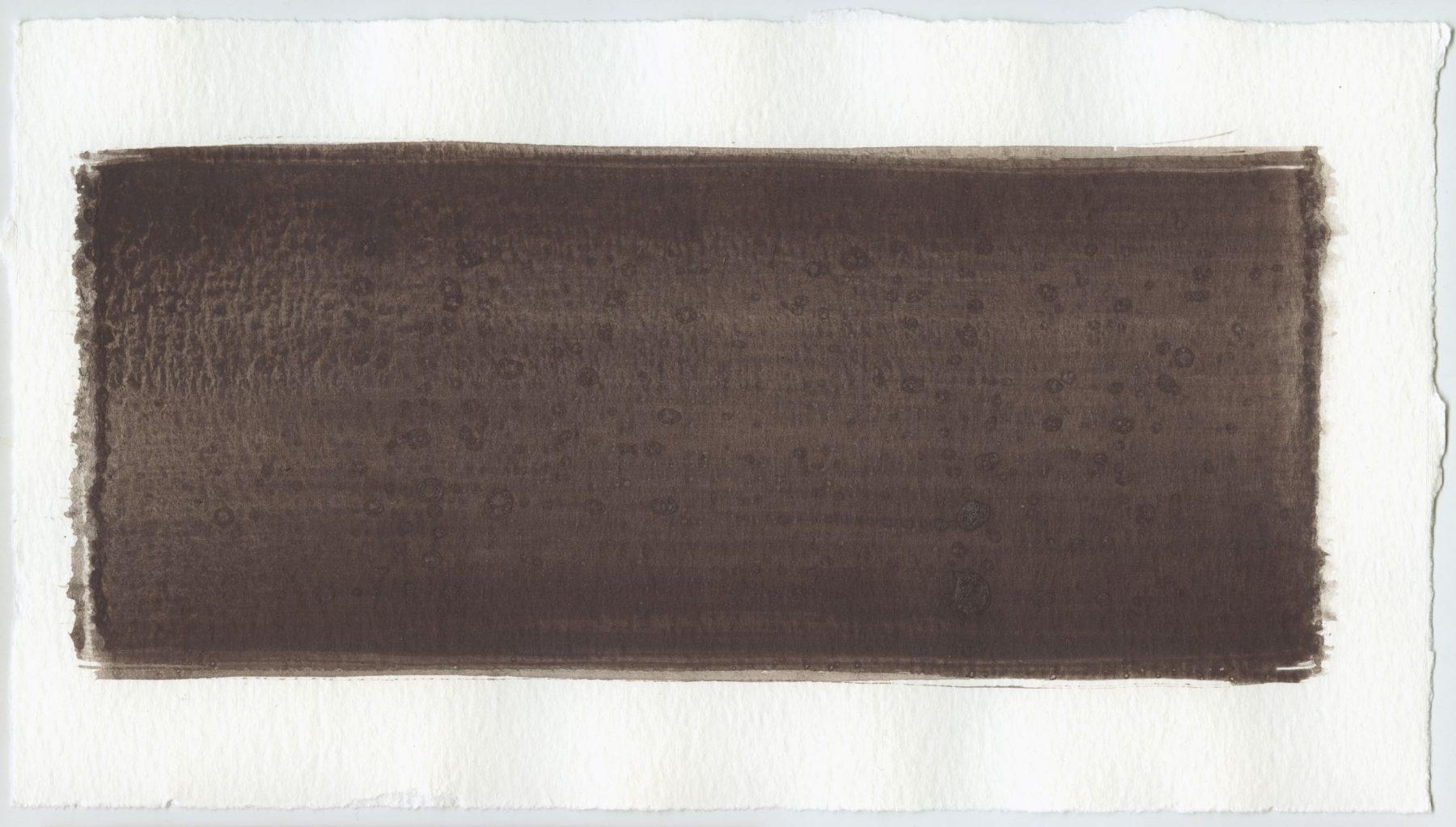 Brush stroke no. 16 - Selfmade pigment: Mortel paarsgrijs fijn