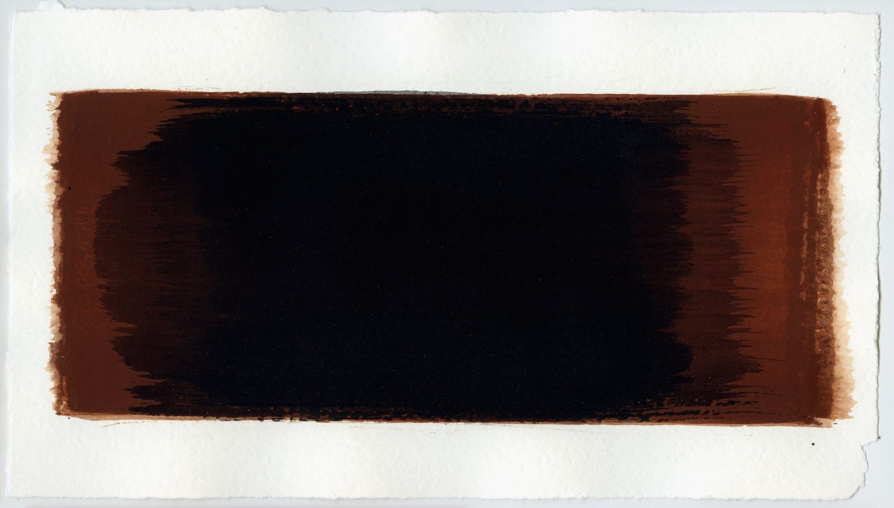 Brush stroke no. 17 - SOLD - Selfmade pigment: Mortelse oker gebrand, Slingerpad zwart