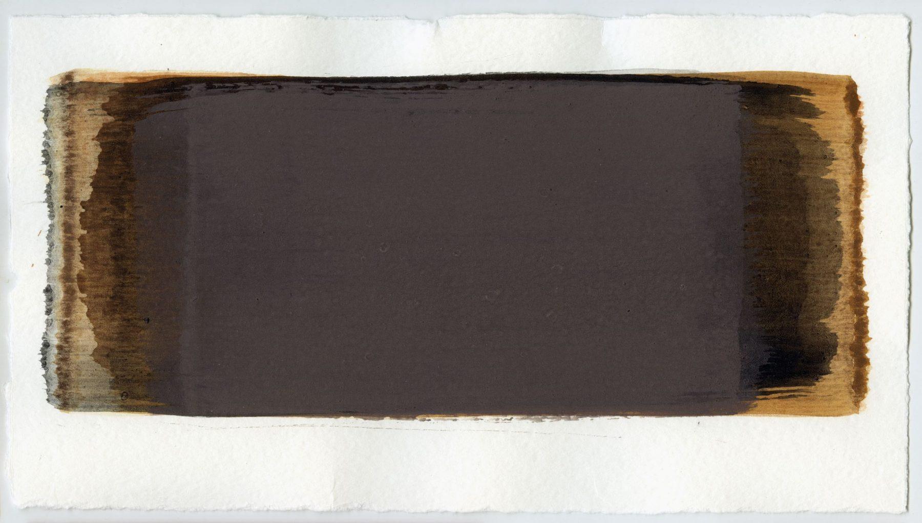 Brush stroke no. 18 - Selfmade pigment: IJzeroer gebrand, Boekels roze, IJzeroer, Slingerpad zwart, Mortel paarsgrijs fijn