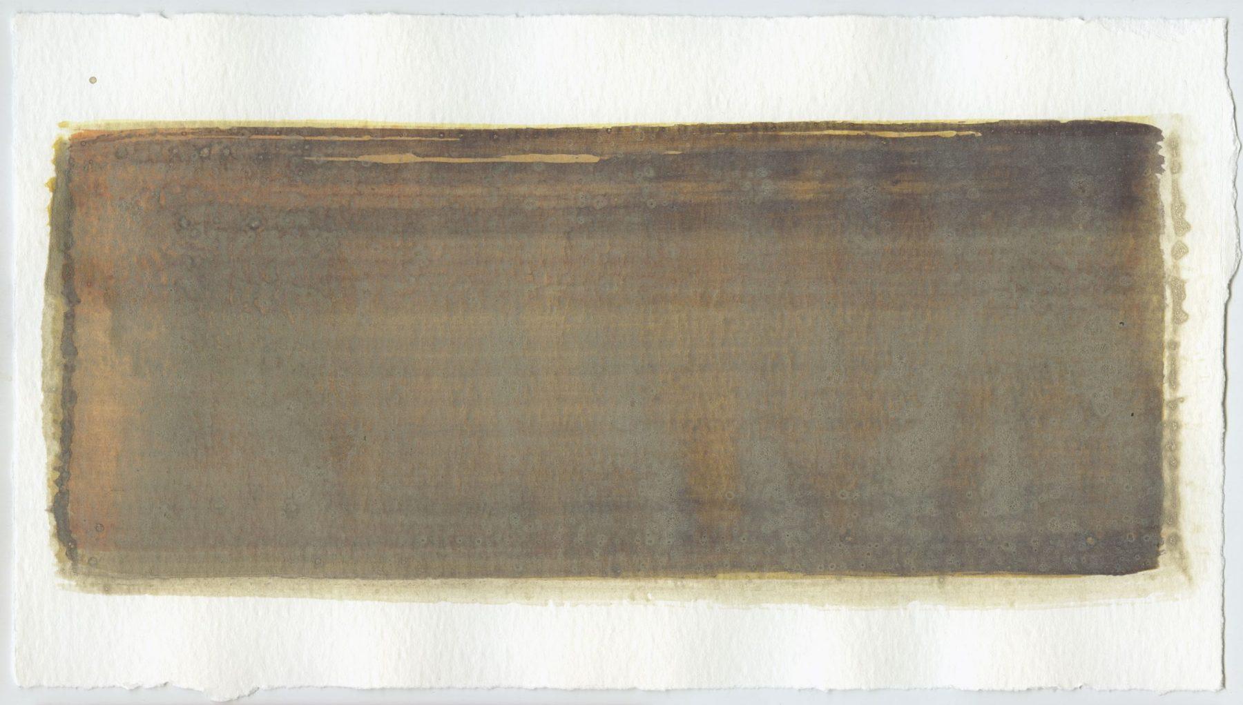 Brush stroke no. 19 - Selfmade pigment: Boekels roze, Mortel paarsgrijs fijn, Mortelse oker, Perekker grijs gebrand