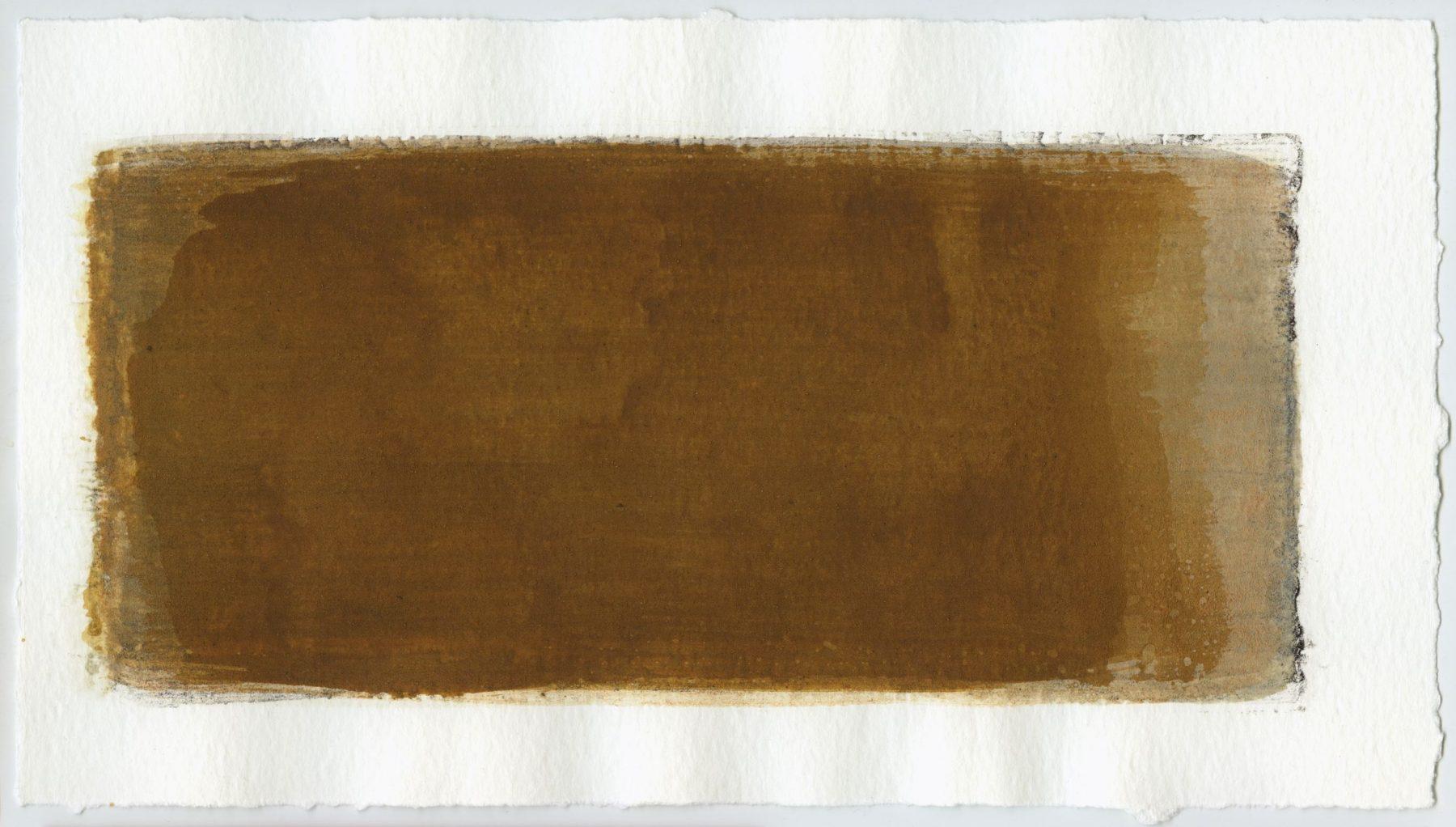 Brush stroke no. 20 - Selfmade pigment: Mortel paarsgrijs grof, Perekker grijs gebrand, Mortel paarsgrijs fijn, Perekker roze, Mortelse goudoker