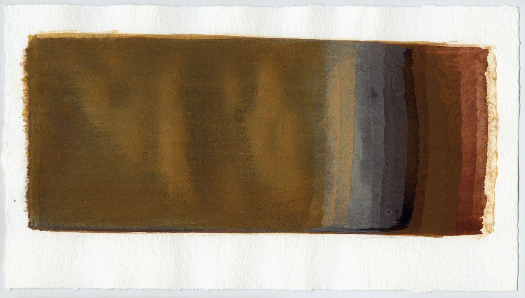 Brush stroke no. 21 - SOLD - Selfmade pigment: Perekker roze, Mortelse oker gebrand, IJzeroer, IJzeroer gebrand, Slingerpad zwart, Mortel paarsgrijs fijn, Perekker grijs, Perekker roze, Mortelse goudoker