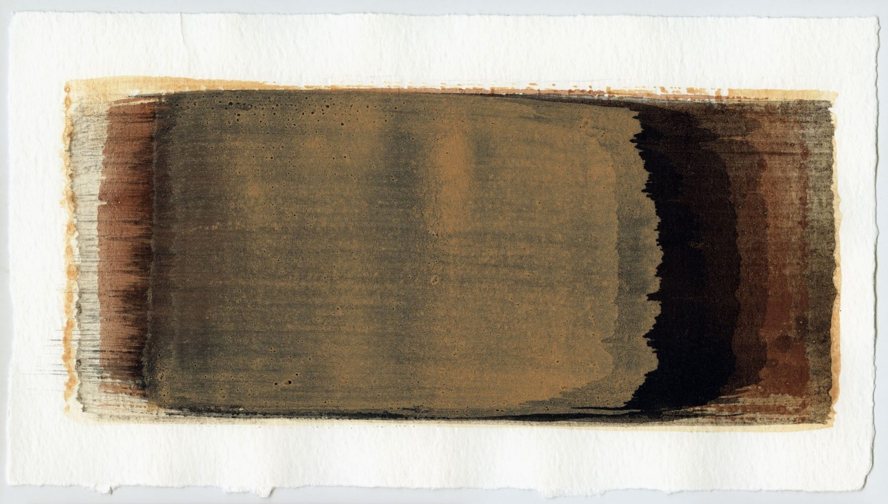 Brush stroke no. 23 - SOLD - Selfmade pigment: Boekels roze, Mortelse oker gebrand, Slingerpad zwart, Perekker roze
