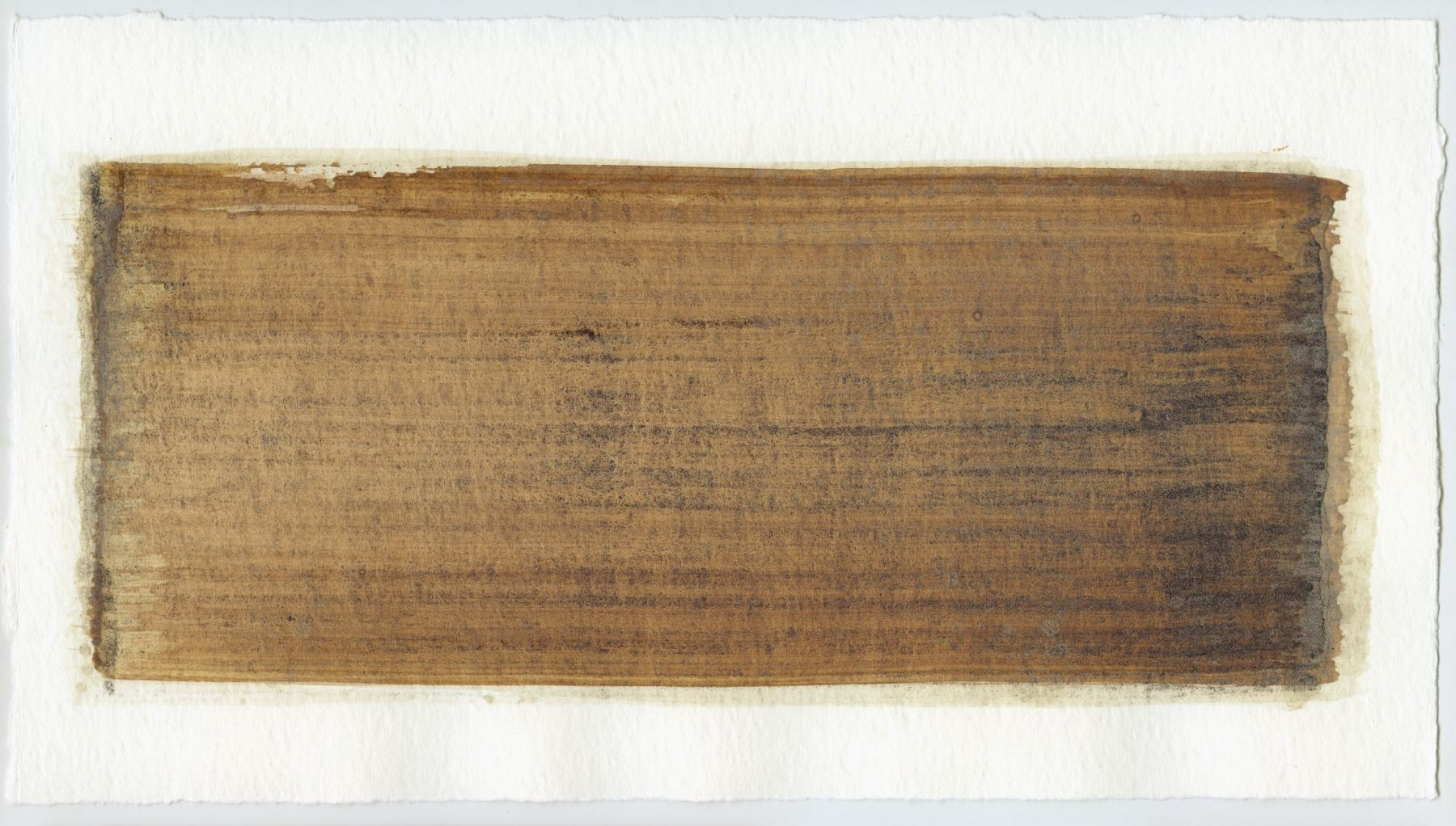 Brush stroke no. 24 - Selfmade pigment: IJzeroer, Mortel paarsgrijs grof, Perekker grijs gebrand
