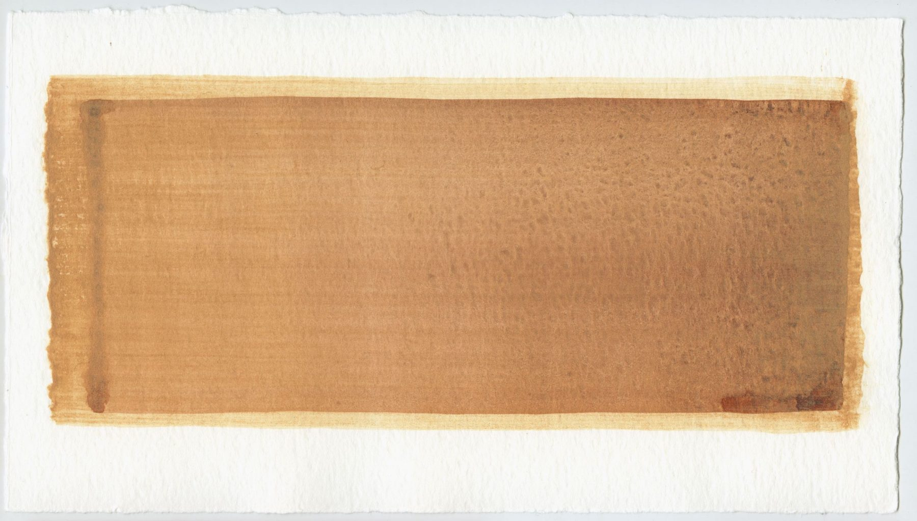 Brush stroke no. 27 - SOLD - Selfmade pigment: Mortelse oker gebrand, Perekker roze