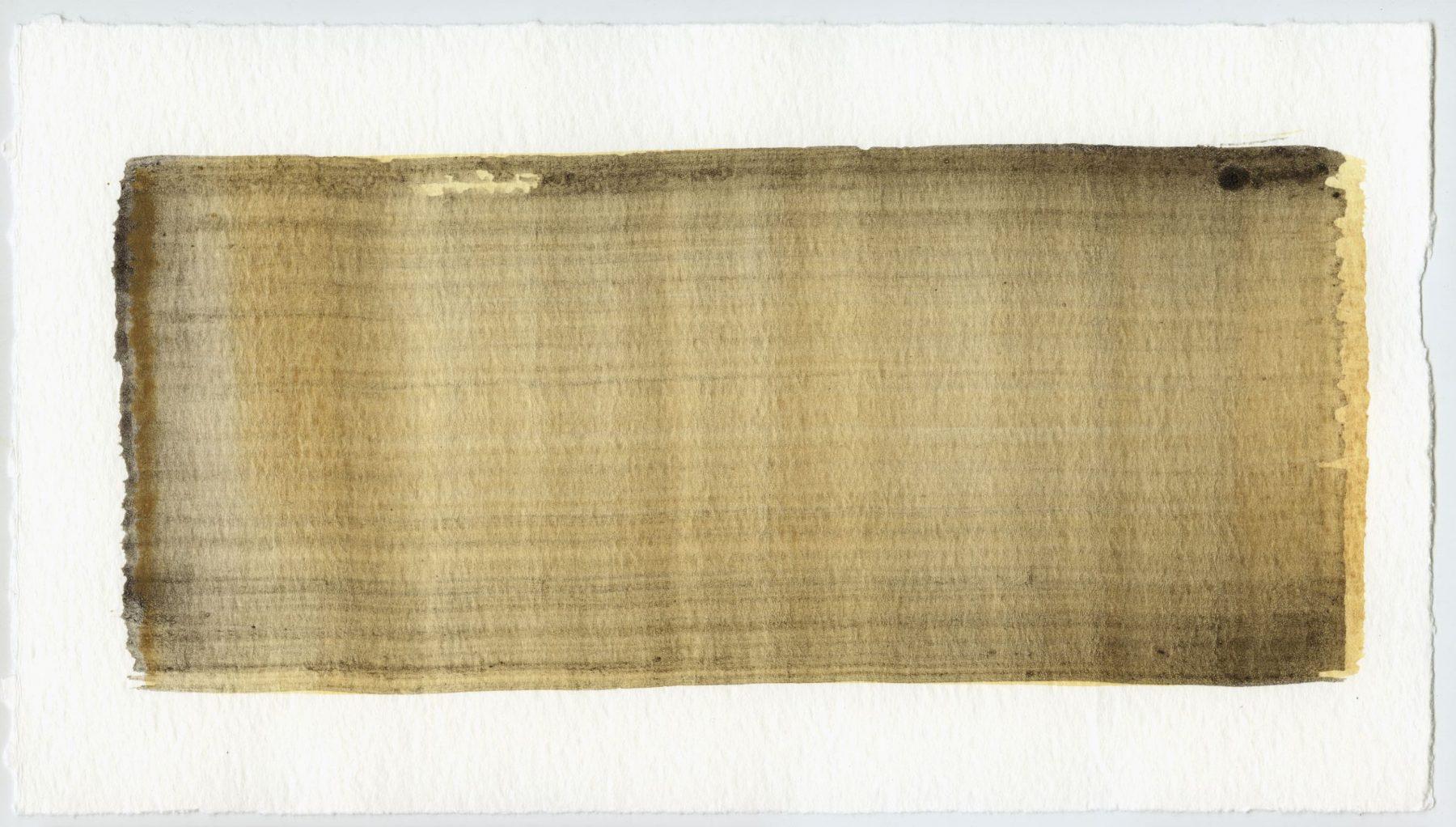 Brush stroke no. 29 - Selfmade pigment: IJzeroer, Slingerpad bruin