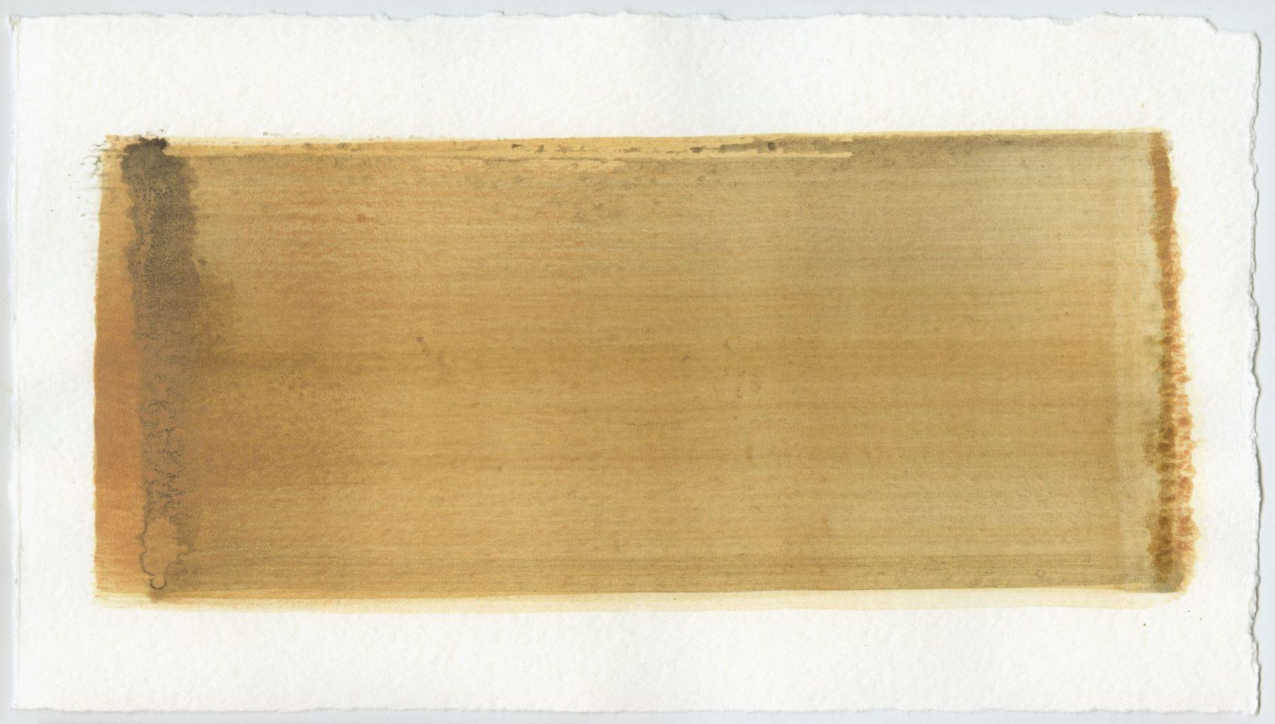 Brush stroke no. 31 - Selfmade pigment: IJzeroer, Slingerpad bruin, Perekker roze