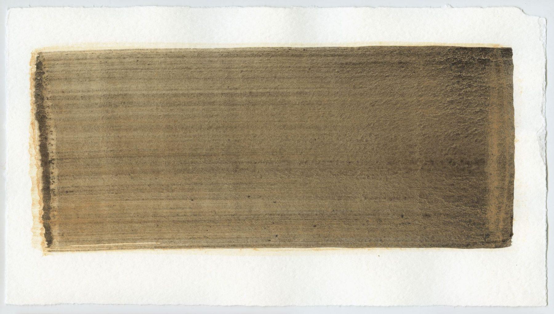 Brush stroke no. 33 - Selfmade pigment: Slingerpad bruin, Perekker roze