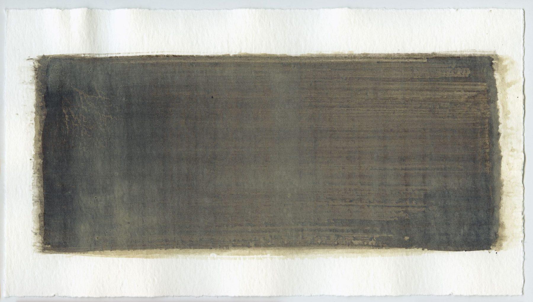 Brush stroke no. 35 - Selfmade pigment: Slingerpad bruin, Boekels grijs
