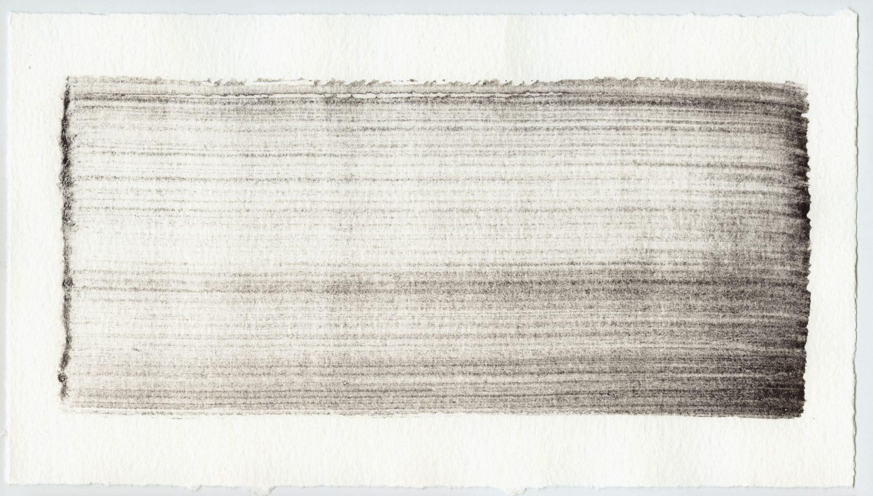 Brush stroke no. 40 - Selfmade pigment: Mortel paarsgrijs grof