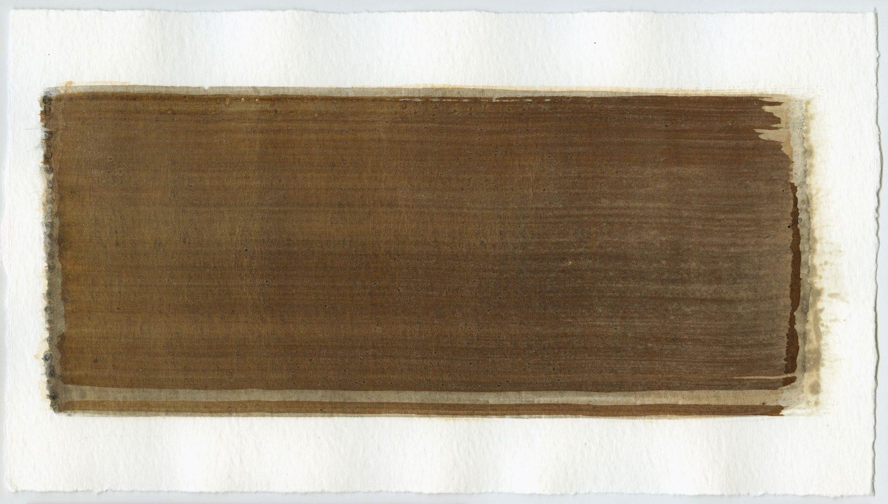 Brush stroke no. 41 - Selfmade pigment: Perekker grijs gebrand, Slingerpad zwart, IJzeroer, Perekker roze