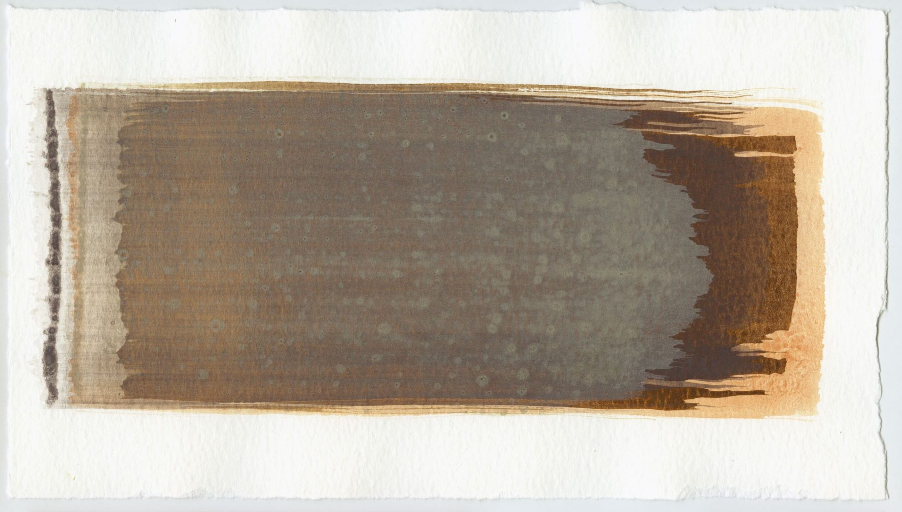 Brush stroke no. 42 - SOLD - Selfmade pigment: Boekels roze, IJzeroer, Mortel paarsgrijs fijn, Perekker grijs