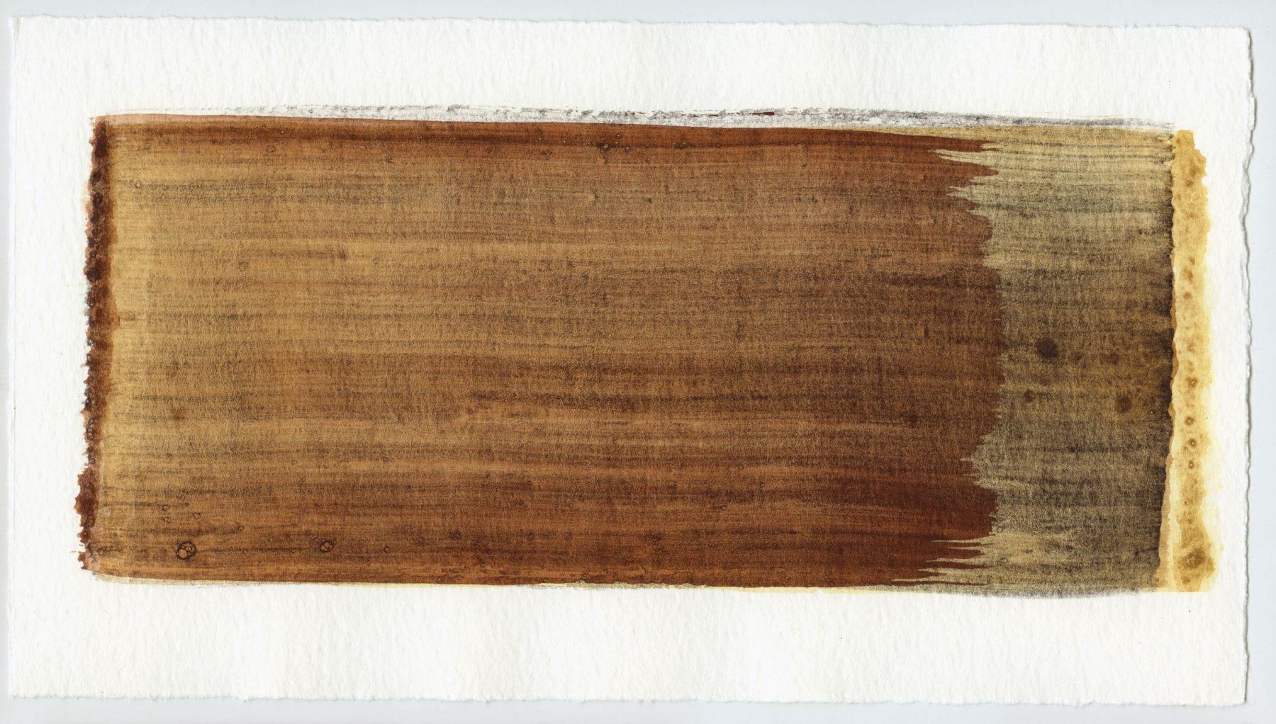 Brush stroke no. 43 - Selfmade pigment: IJzeroer, Mortel paarsgrijs middel, Mortelse oker gebrand