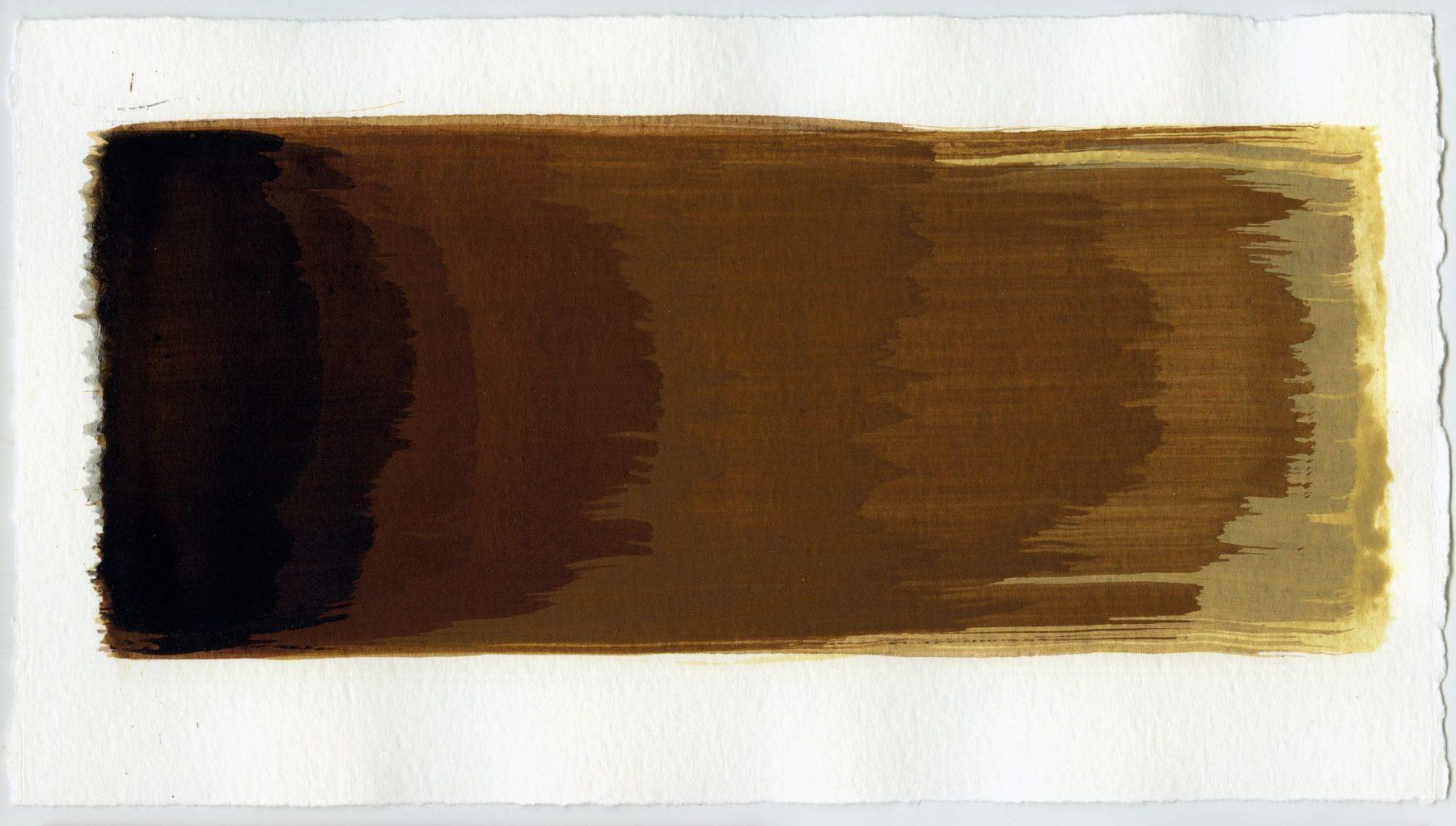 Brush stroke no. 44 - SOLD - Selfmade pigment: Slabroek grijs, IJzeroer, Mortelse oker, IJzeroer, IJzeroer gebrand, Slingerpad zwart