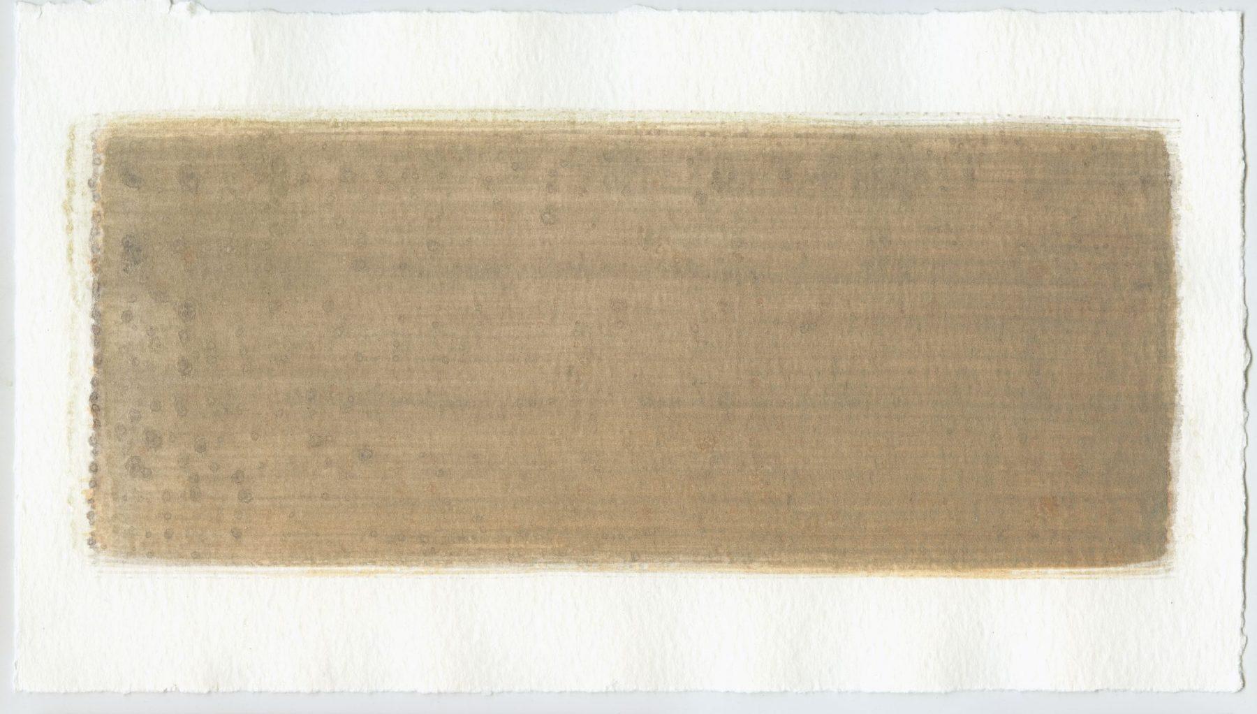 Brush stroke no. 45 - Selfmade pigment: Boekels roze, Mortel paarsgrijs fijn, Perekker grijs gebrand