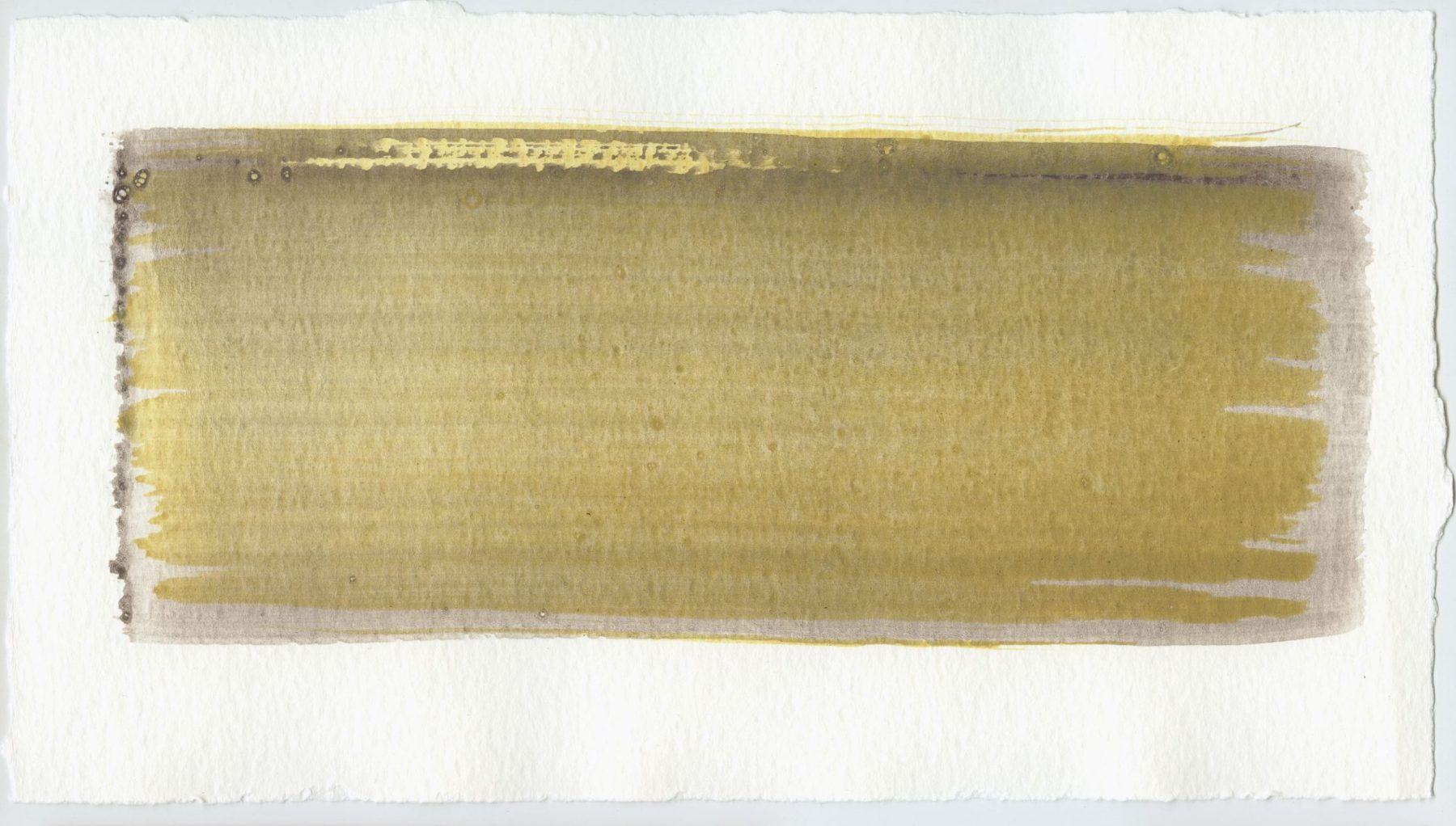 Brush stroke no. 46 - SOLD - Selfmade pigment: Mortel paarsgrijs fijn, Mortelse oker