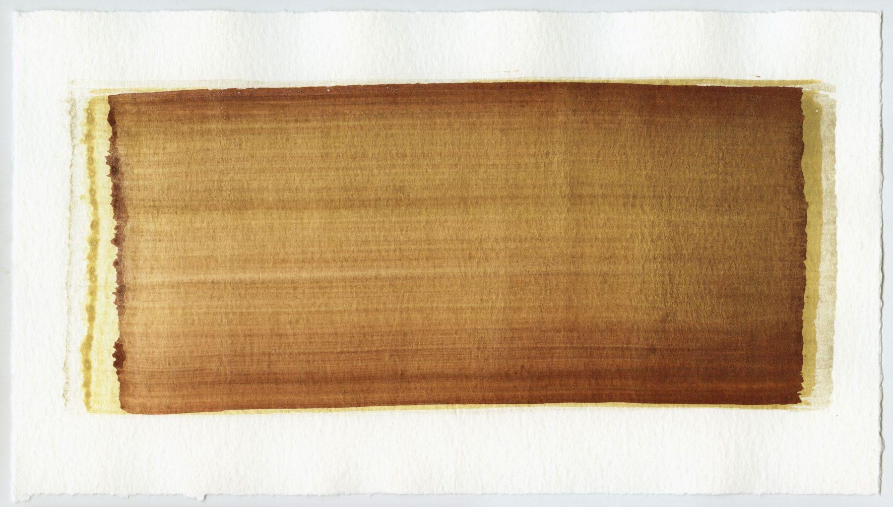 Brush stroke no. 47 - Selfmade pigment: Perekker grijs gebrand, Mortelse oker, Mortelse oker gebrand