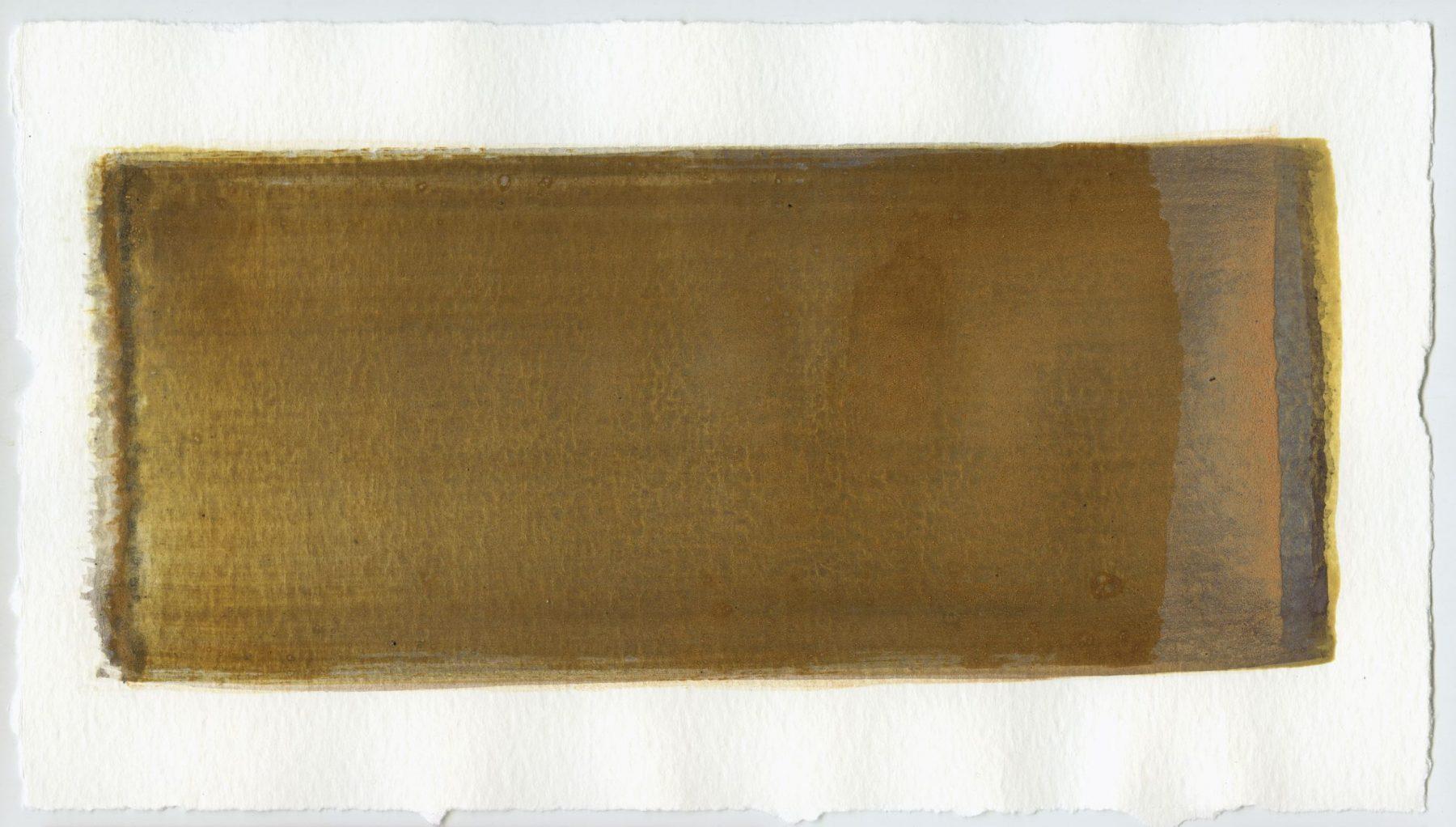 Brush stroke no. 48 - SOLD - Selfmade pigment: Mortelse oker, Slingerpad zwart, Mortel paarsgrijs fijn, Perekker grijs, Perekker roze, Mortelse goudoker