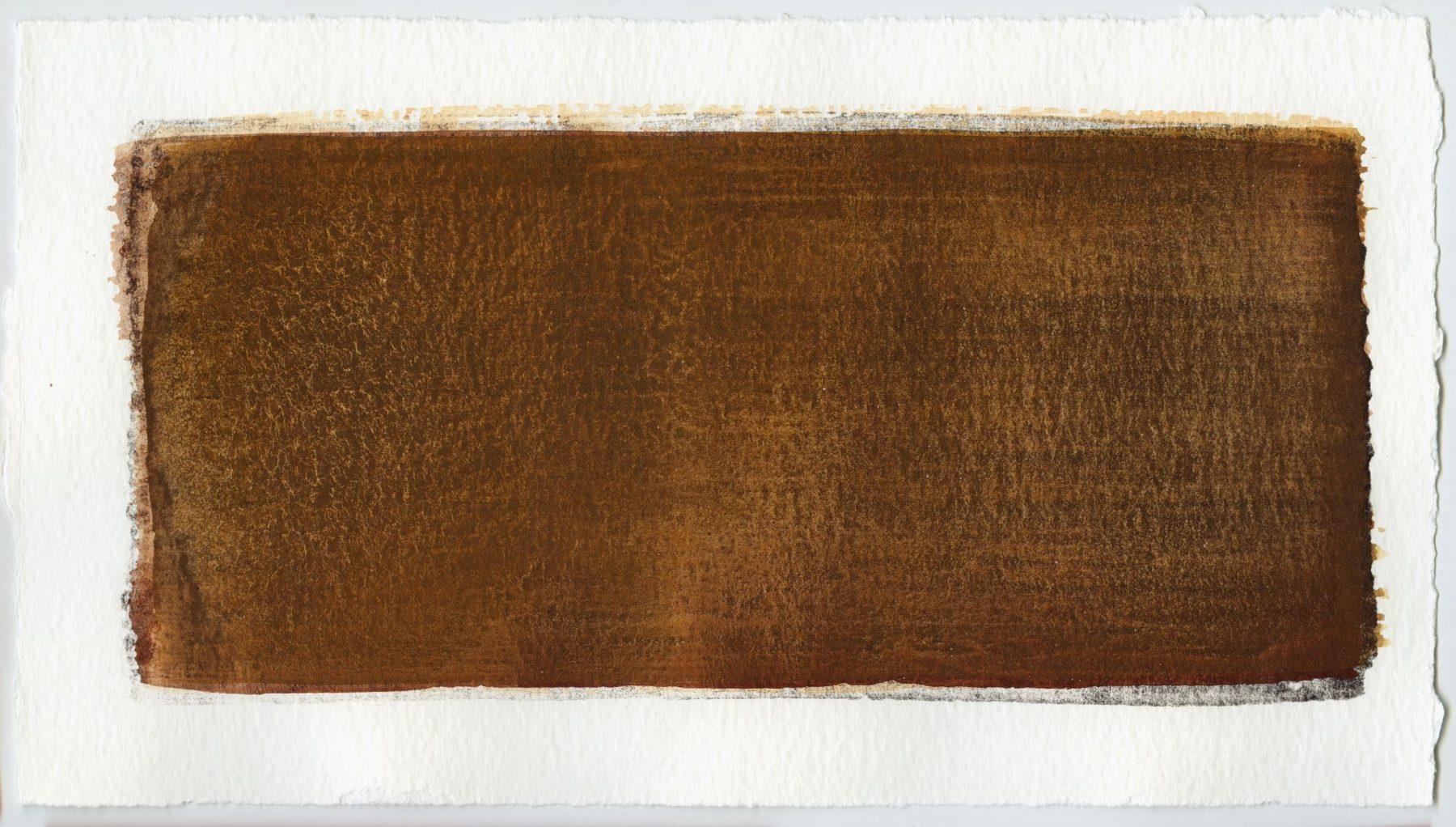 Brush stroke no. 49 - Selfmade pigment: IJzeroer gebrand, Boekels roze, Mortel paarsgrijs grof, Mortelse oker gebrand, IJzeroer