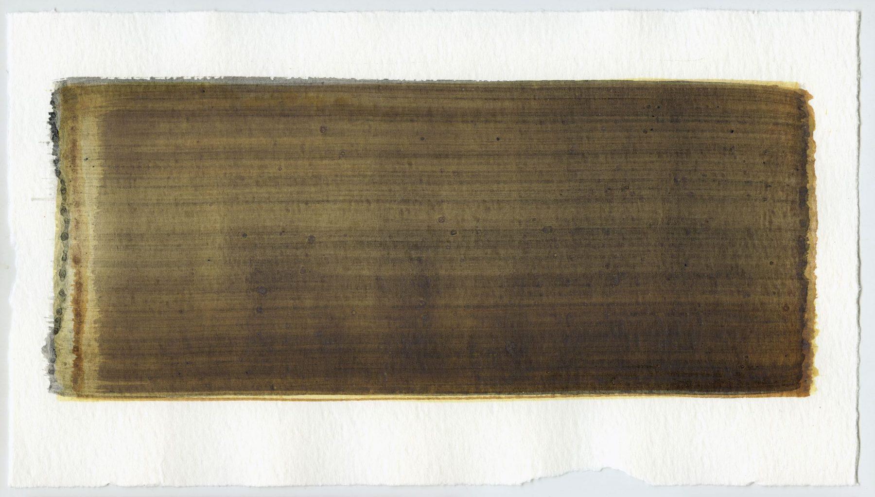 Brush stroke no. 52 - Selfmade pigment: Mortelse oker, IJzeroer, Slingerpad zwart, Mortel paarsgrijs fijn