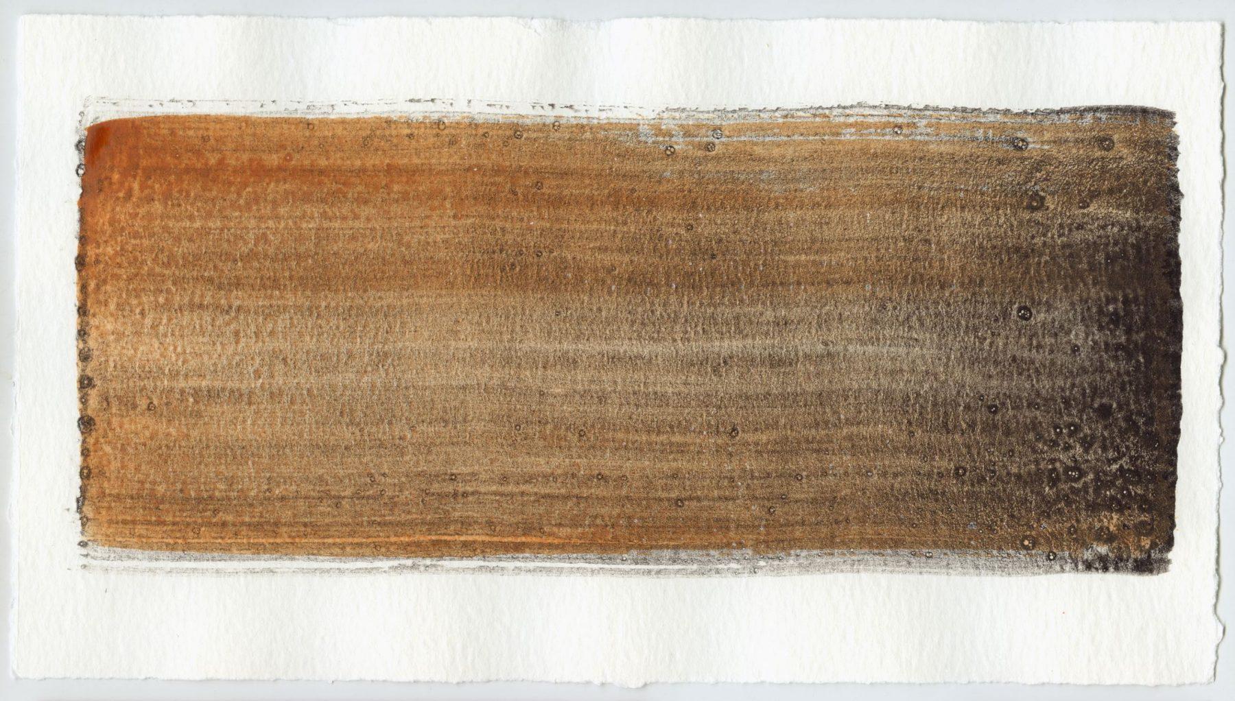 Brush stroke no. 54 - SOLD - Selfmade pigment: Mortel paarsgrijs grof, Boekels roze