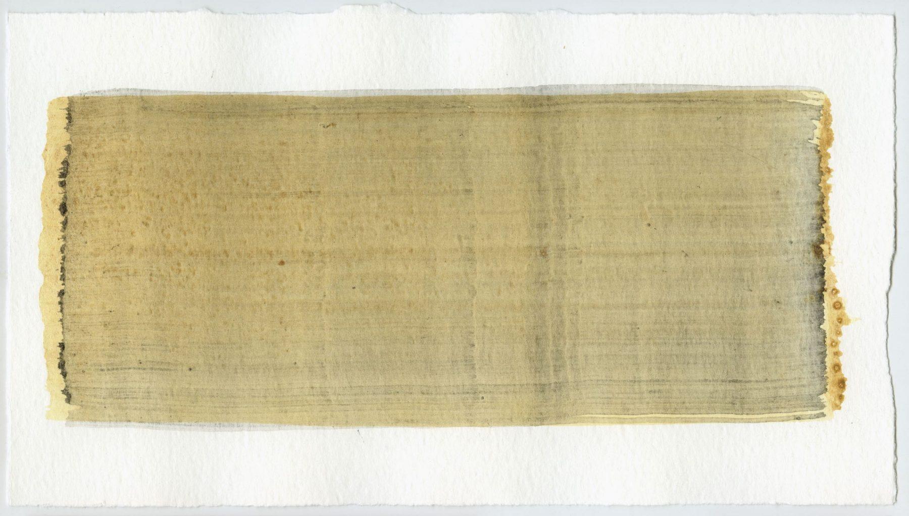 Brush stroke no. 55 - Selfmade pigment: IJzeroer, Slingerpad zwart