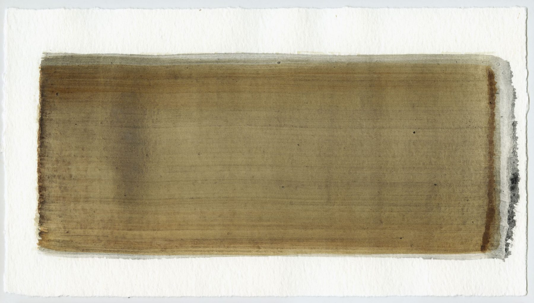 Brush stroke no. 56 - Selfmade pigment: Perekker grijs gebrand, IJzeroer, Slingerpad zwart
