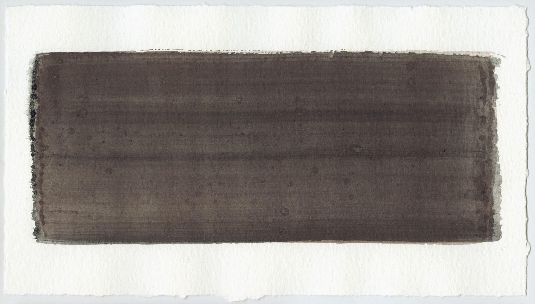 Brush stroke no. 57 - Selfmade pigment: Slingerpad zwart, Mortel paarsgrijs fijn