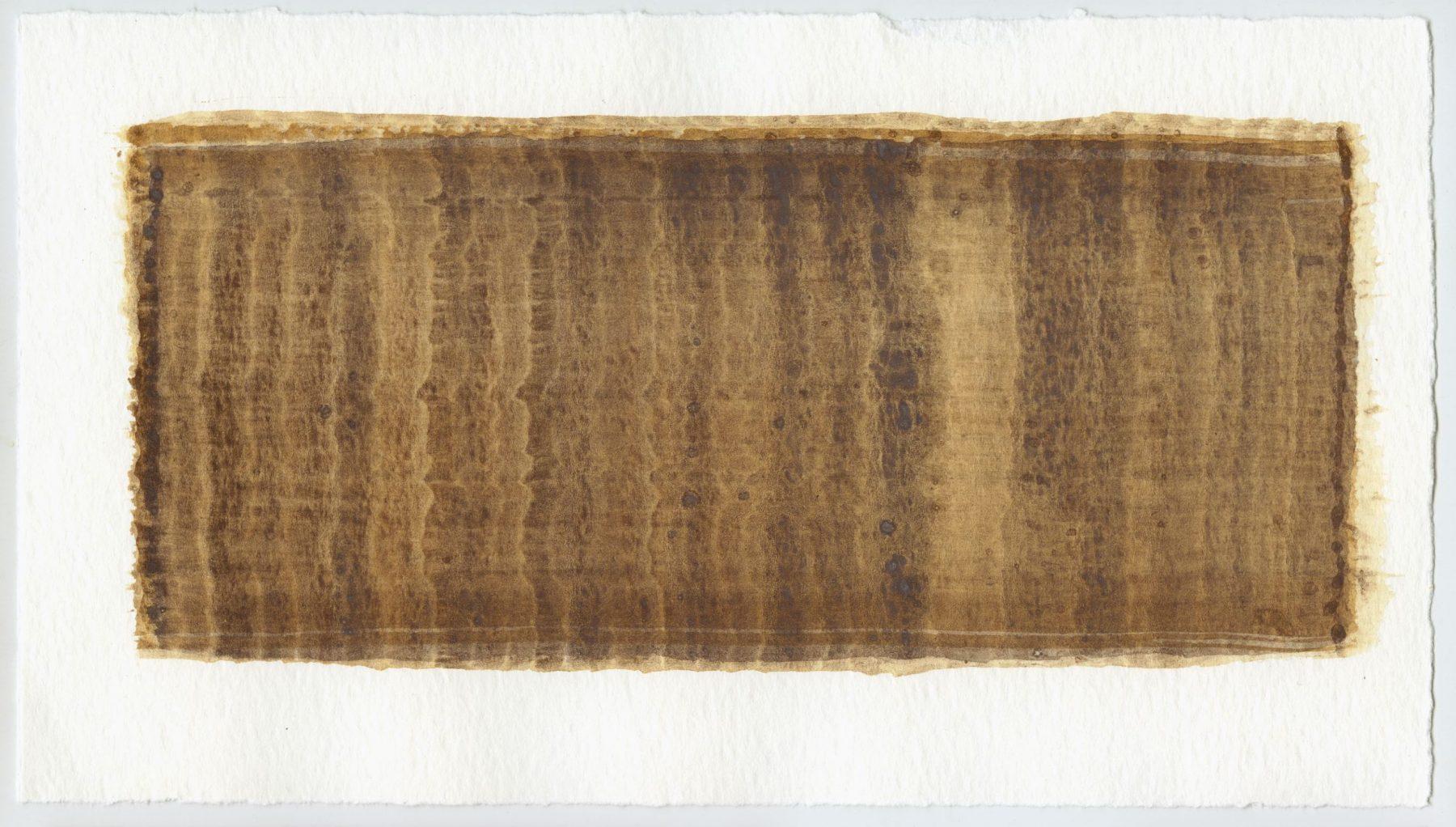 Brush stroke no. 59 - SOLD - Selfmade pigment: Mortelse goudoker, IJzeroer gebrand, Mortel paarsgrijs middel