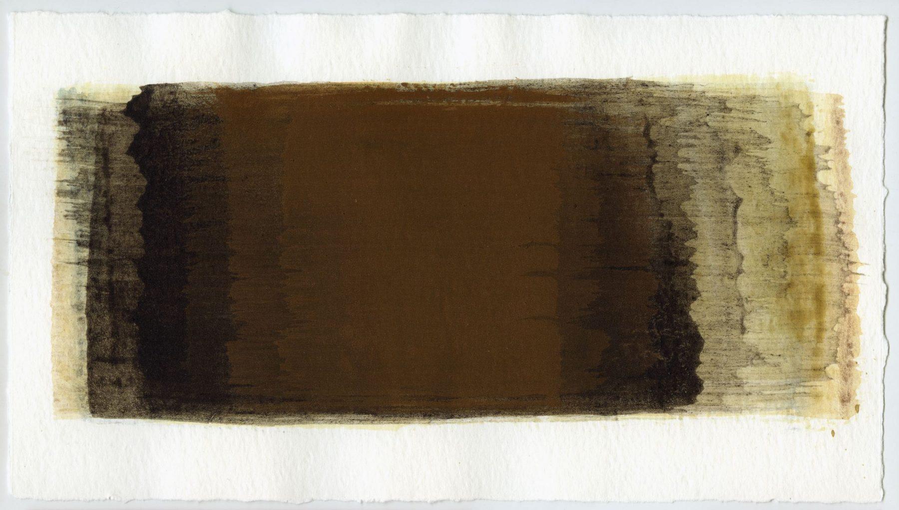 Brush stroke no. 61 - Selfmade pigment: IJzeroer, Mortelse oker, Slingerpad bruin, IJzeroer