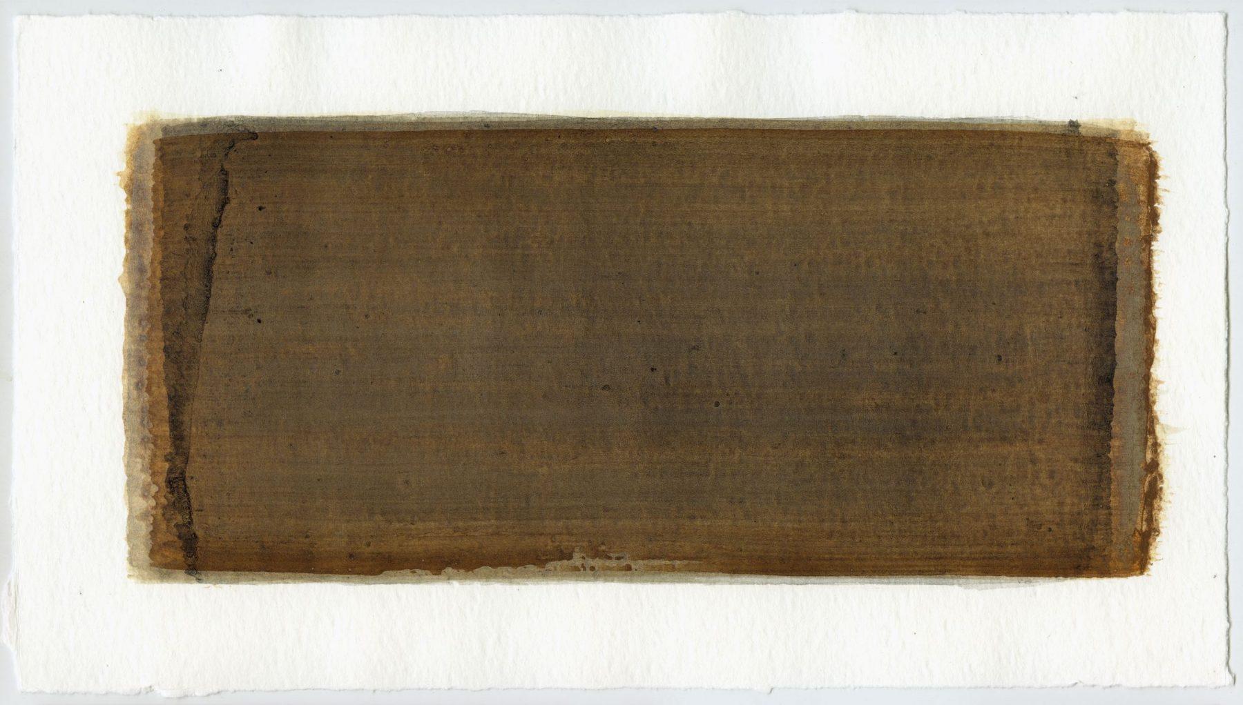 Brush stroke no. 65 - Selfmade pigment: IJzeroer, Boekels grijs, IJzeroer, Slingerpad zwart