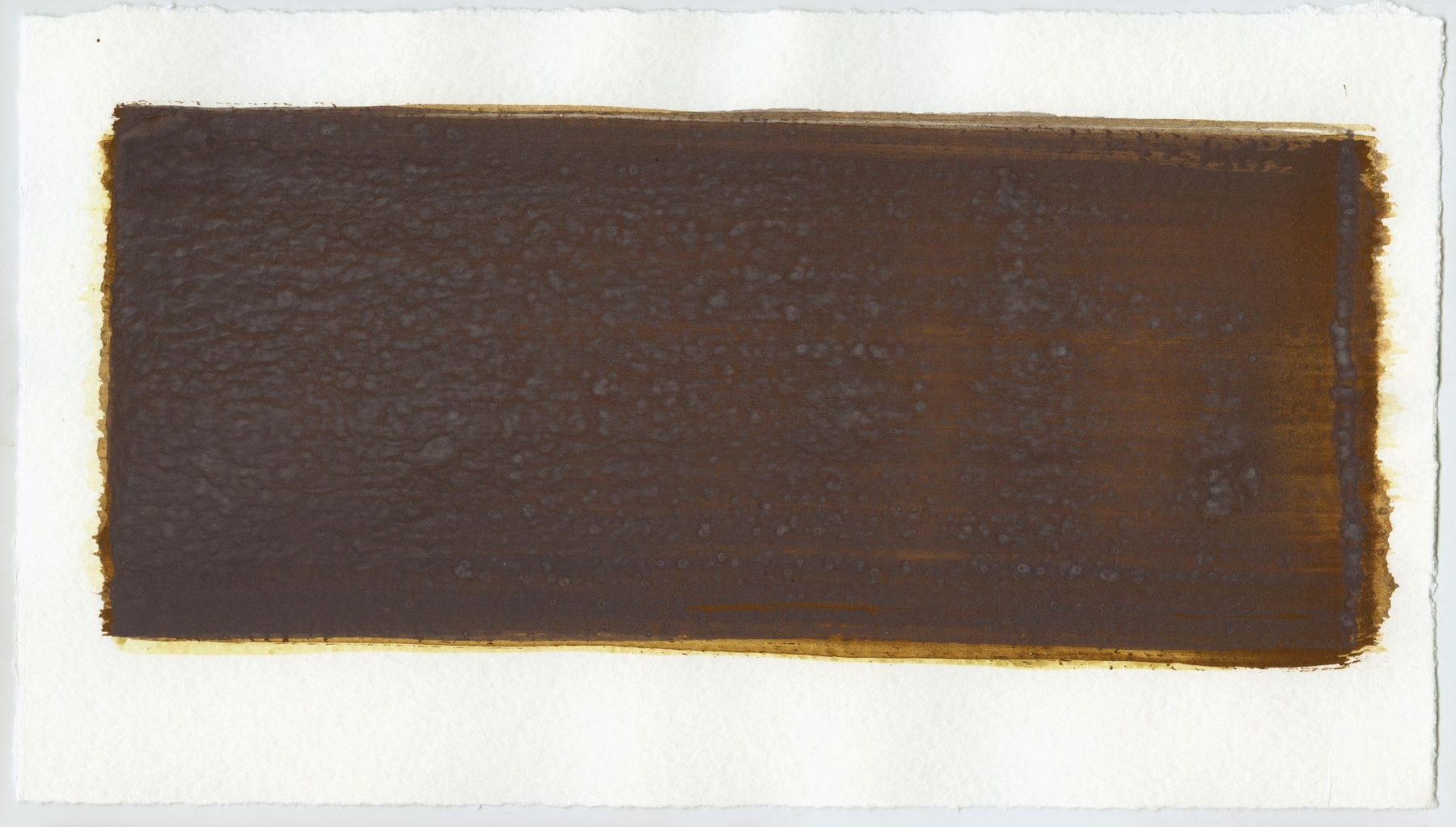 Brush stroke no. 66 - SOLD - Selfmade pigment: Mortelse oker, IJzeroer, Mortel paarsgrijs fijn