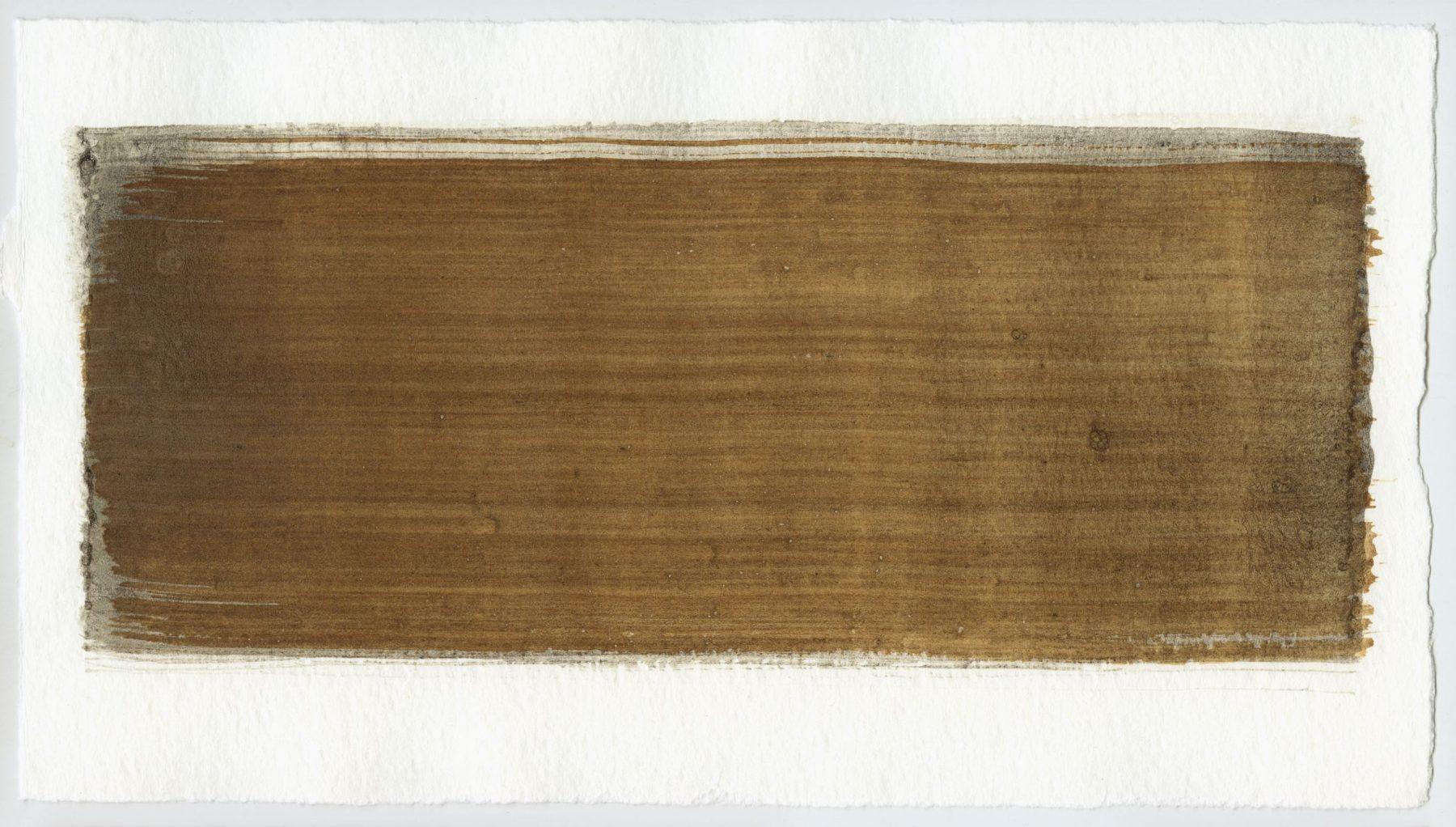 Brush stroke no. 67 - Selfmade pigment: Mortel paarsgrijs middel, Perekker grijs gebrand, IJzeroer