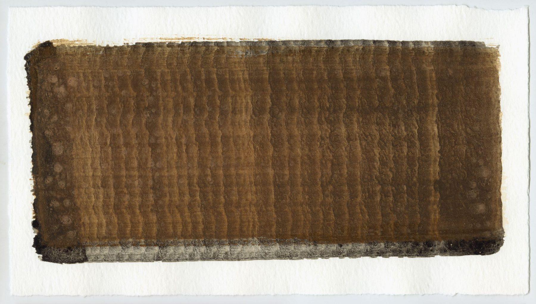 Brush stroke no. 69 - Selfmade pigment: Slingerpad bruin, IJzeroer, Boekels roze