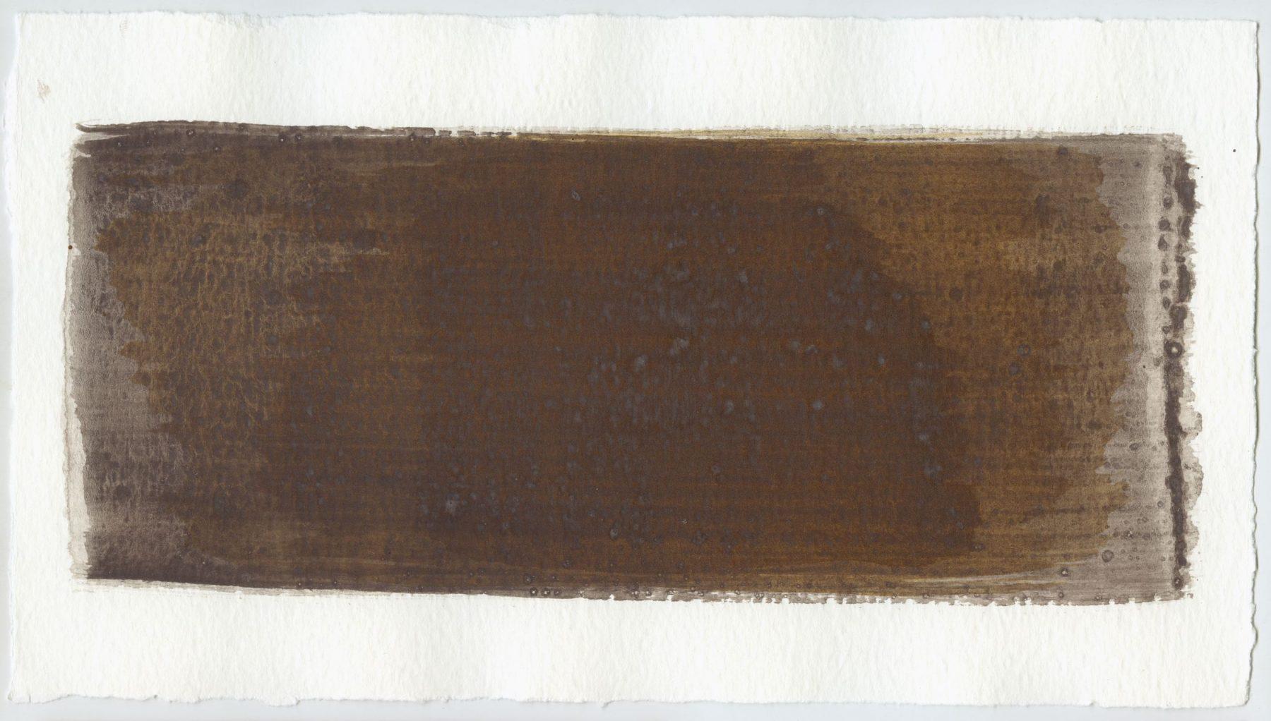 Brush stroke no. 70 - Selfmade pigment: Mortel paarsgrijs fijn, IJzeroer