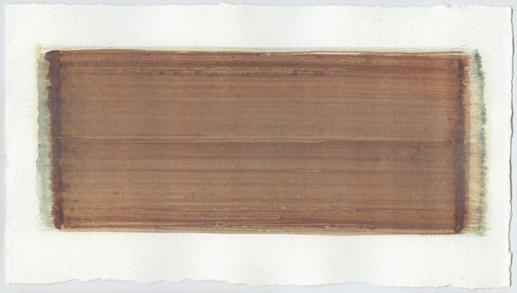 Brush stroke no. 76 - SOLD - Pigment: Vivianiet (from Kremer Pigmente) Selfmade pigment: Mortelse oker gebrand, Slabroek grijs