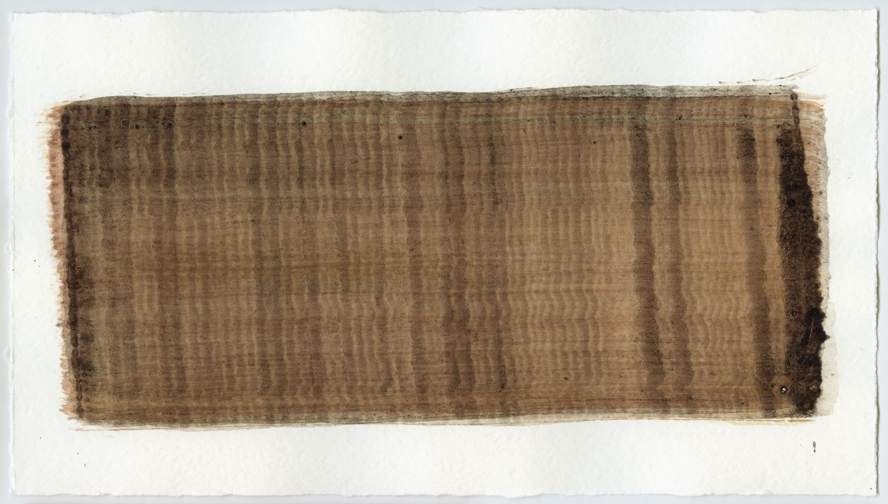 Brush stroke no. 79 - Selfmade pigment: Mortelse oker gebrand, Slingerpad bruin